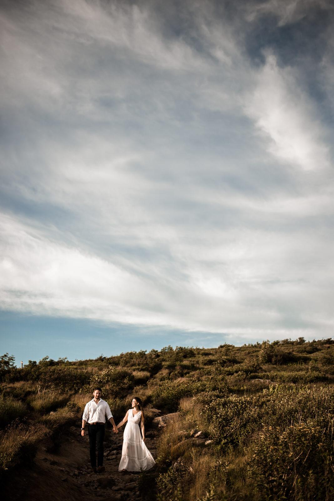 a newlywed adventure session on the blue ridge parkway - BLACK BALSAM KNOB