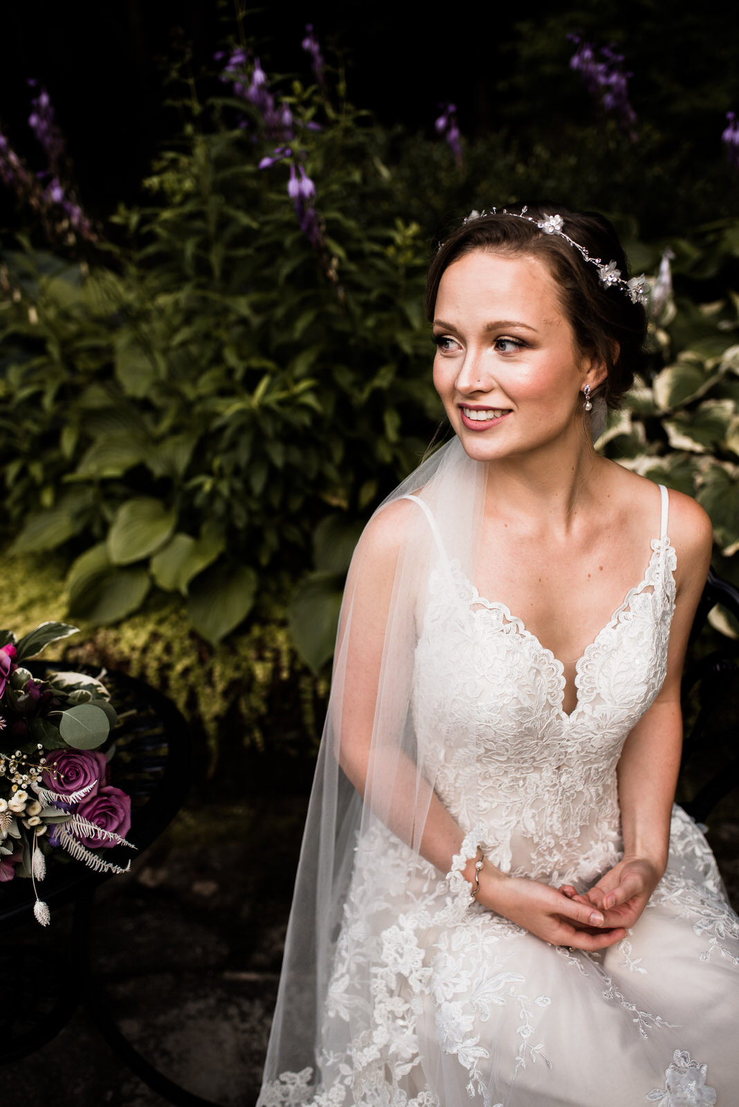 romantic garden bridal session - INN AT TRANQUILITY FARMS | WAYNESVILLE, NC
