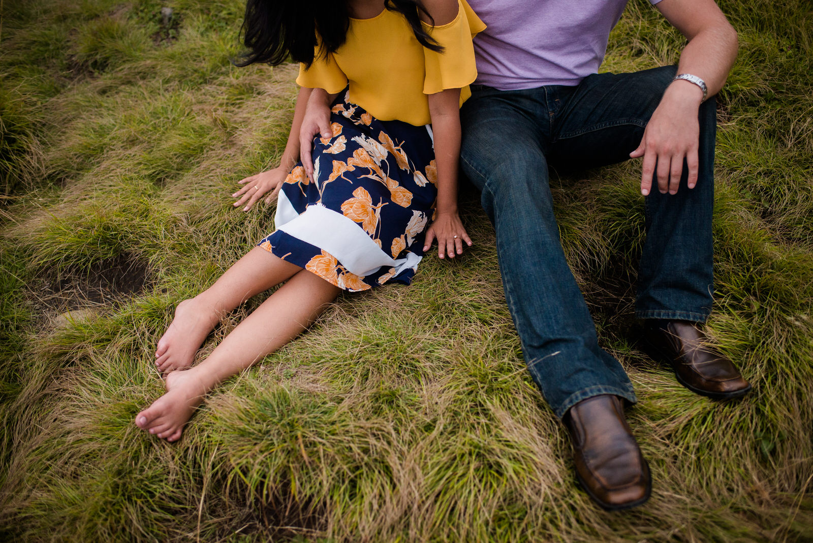mountain top engagement session - CRAGGY GARDENS