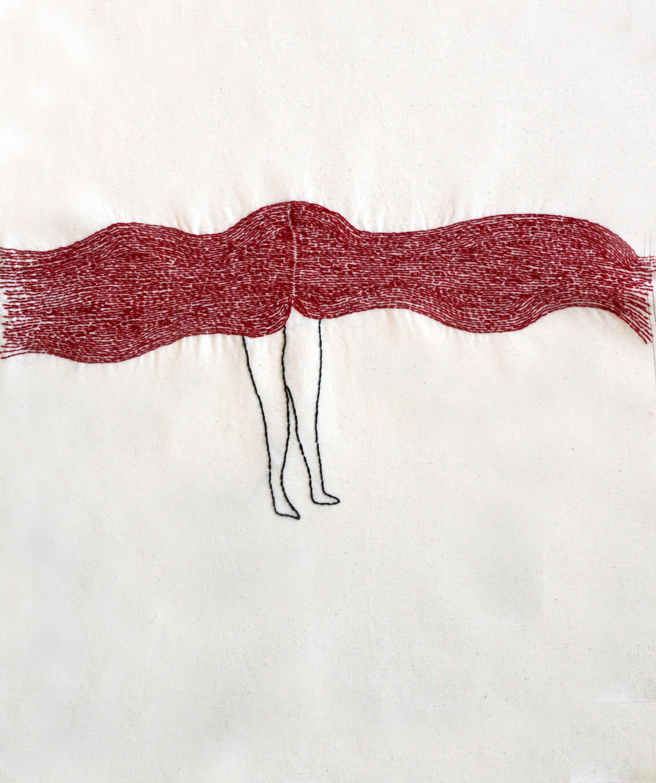 "Prevalent |Hand sewn on Fabric | 17x20"""