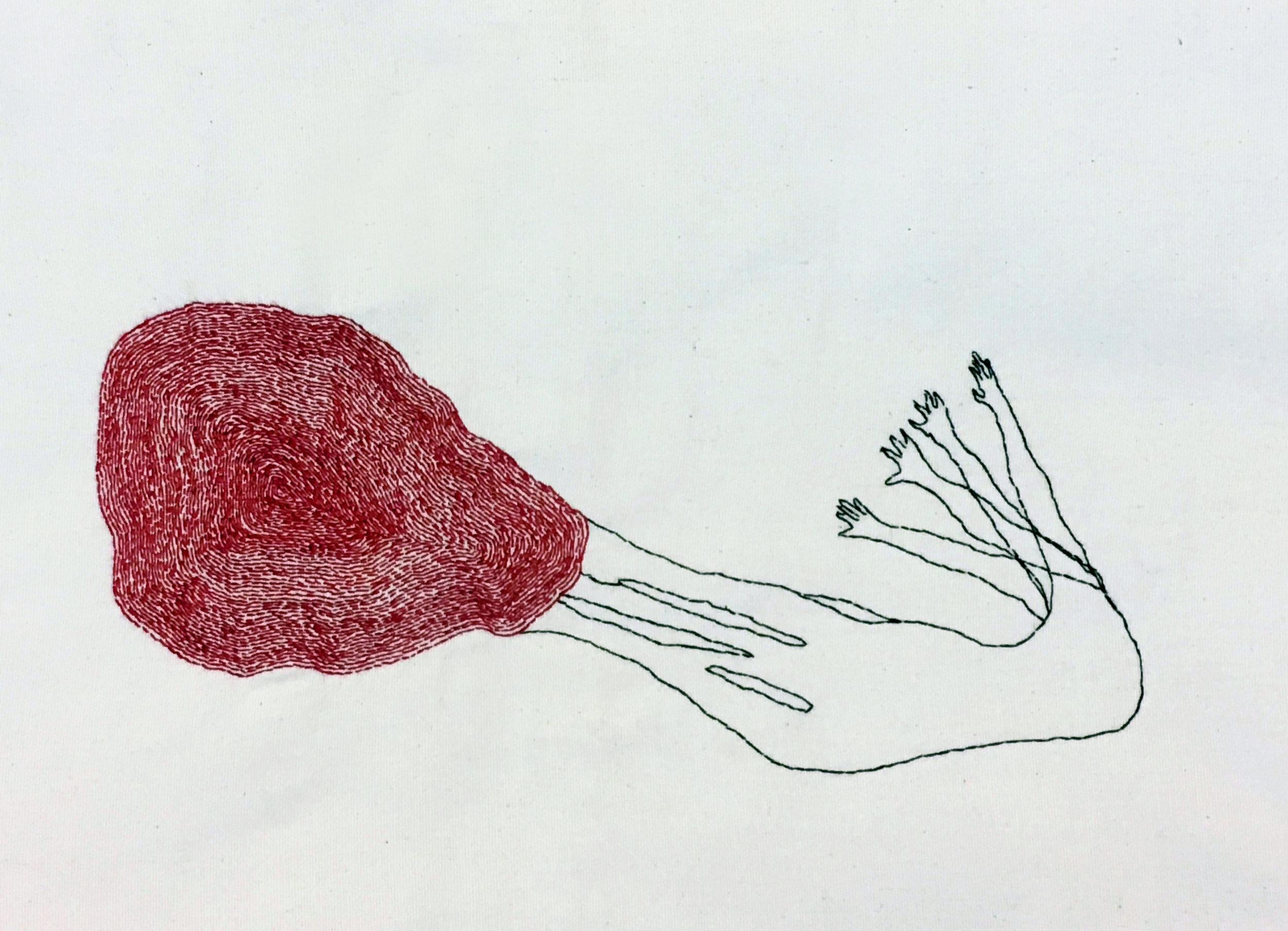 "Abandoned | Hand sewn on Fabric | 20x25"""