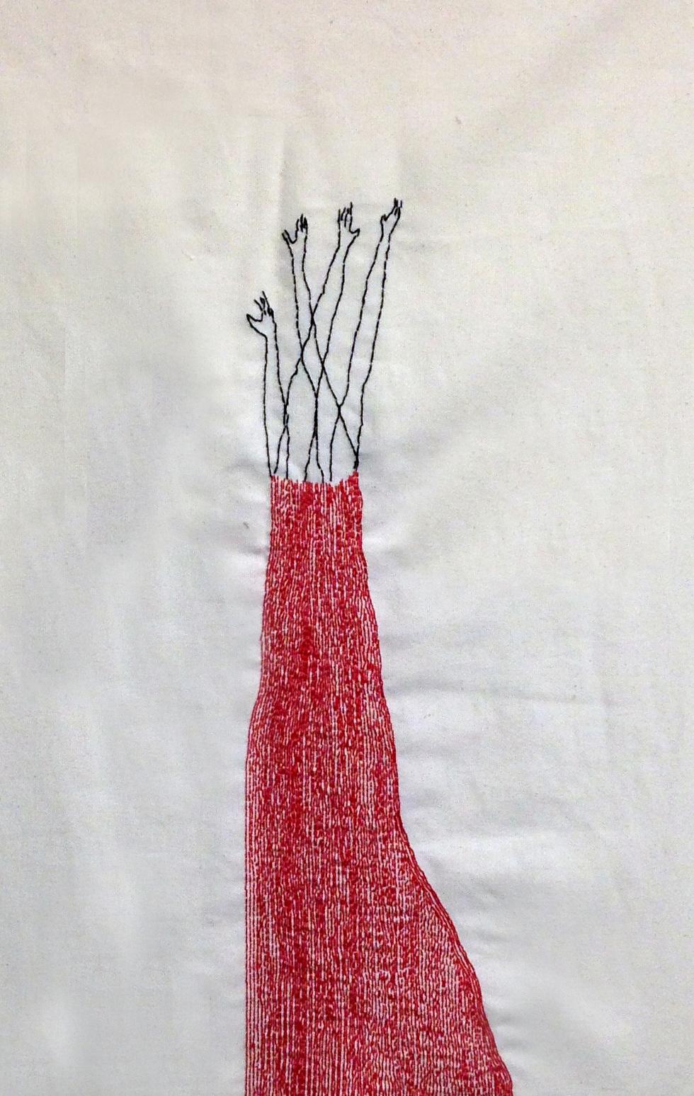 Sequence II | Hand sewn on Fabric | 40x60 cm