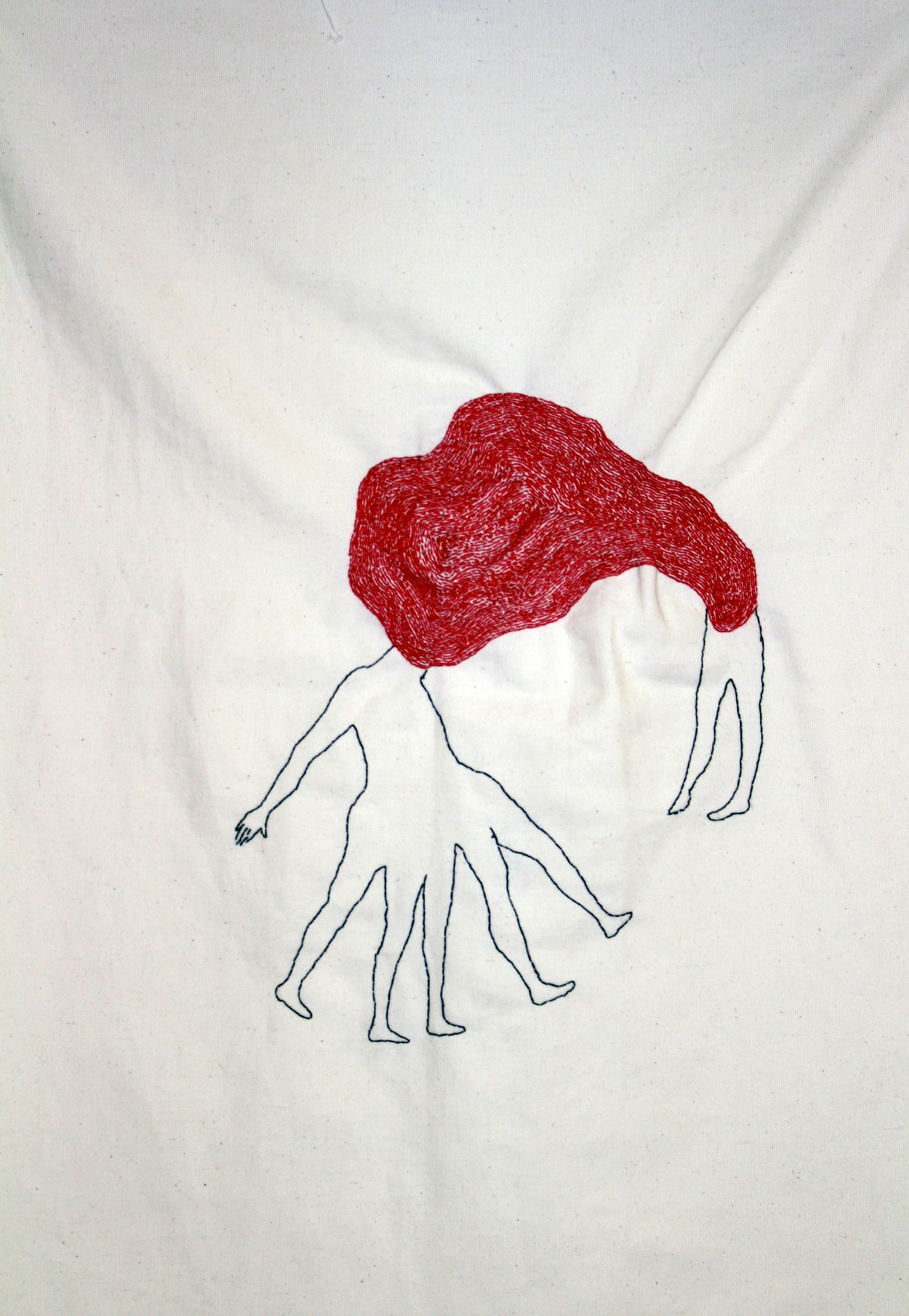 Supplicant | Hand sewn on Fabric | 50x70cm