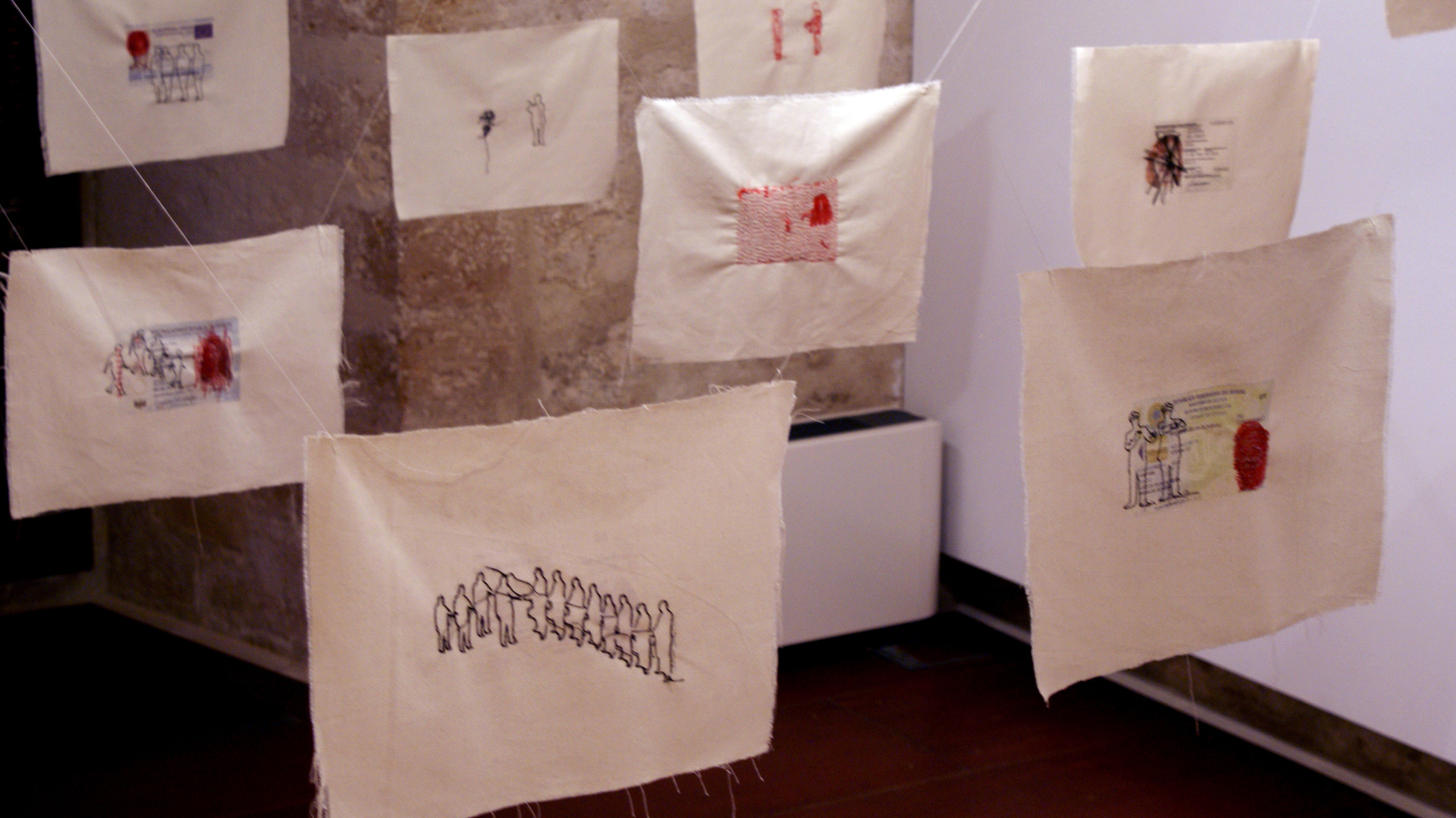 "Installation view of ""Find Shelter in Another Skin"" 