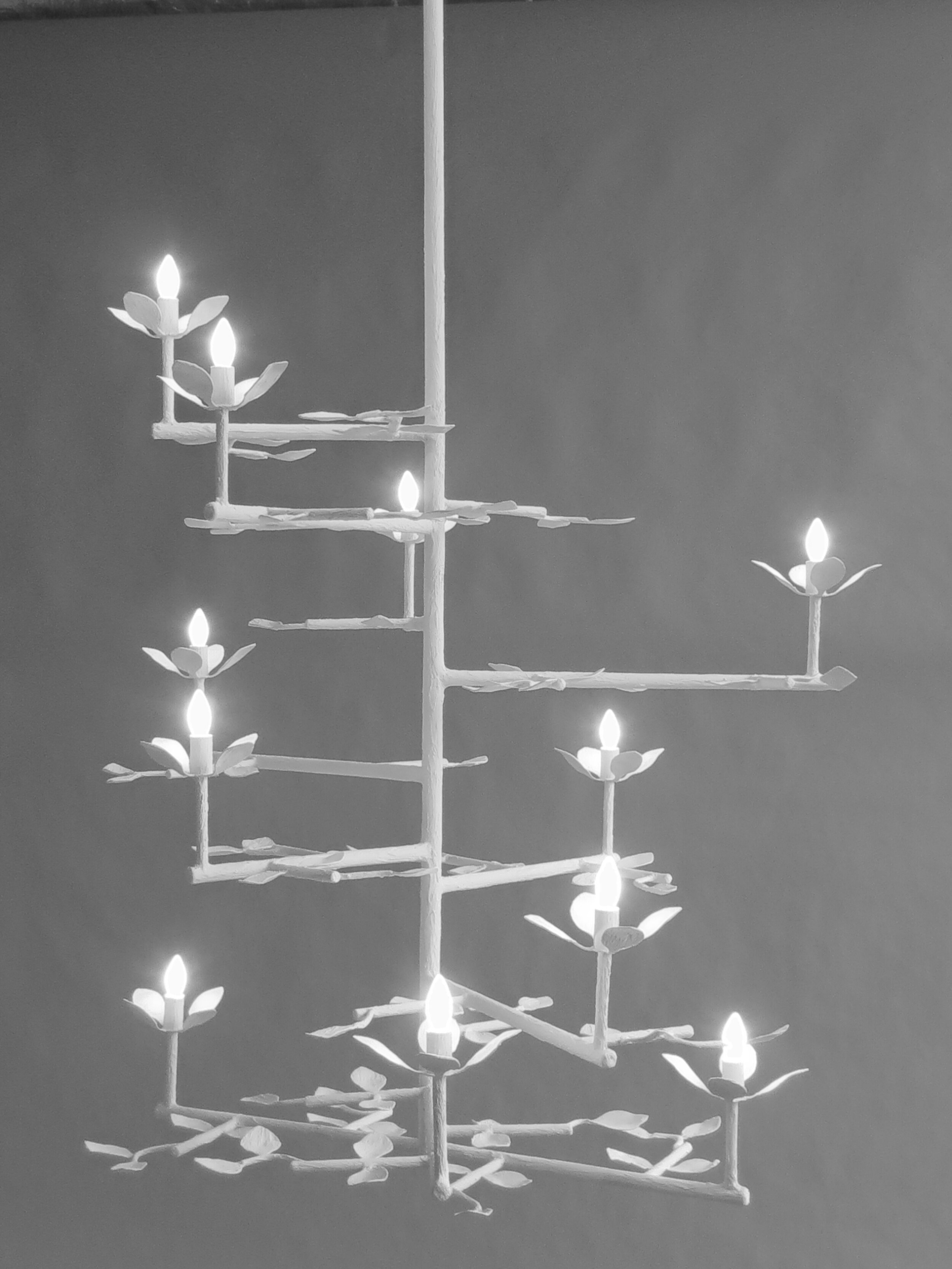 Four Leaf Cluster Chandelier WhiteFinish