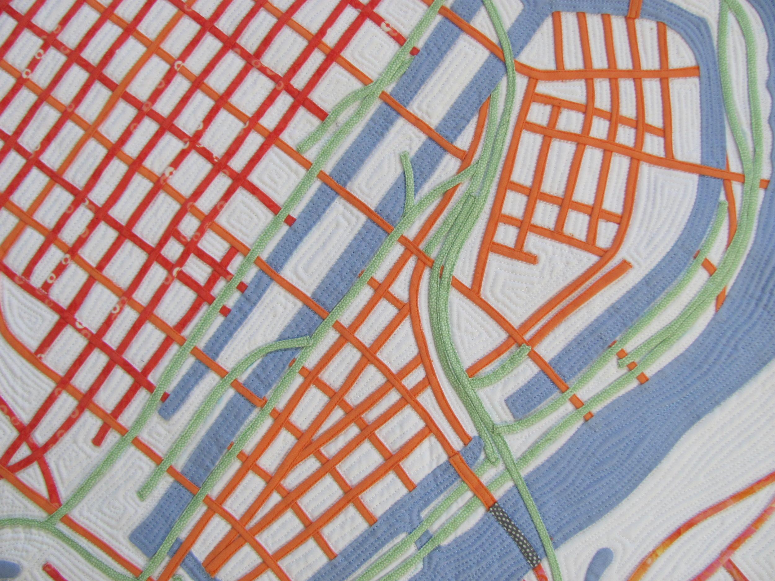 Orange=Streets, Green=Railroad Tracks