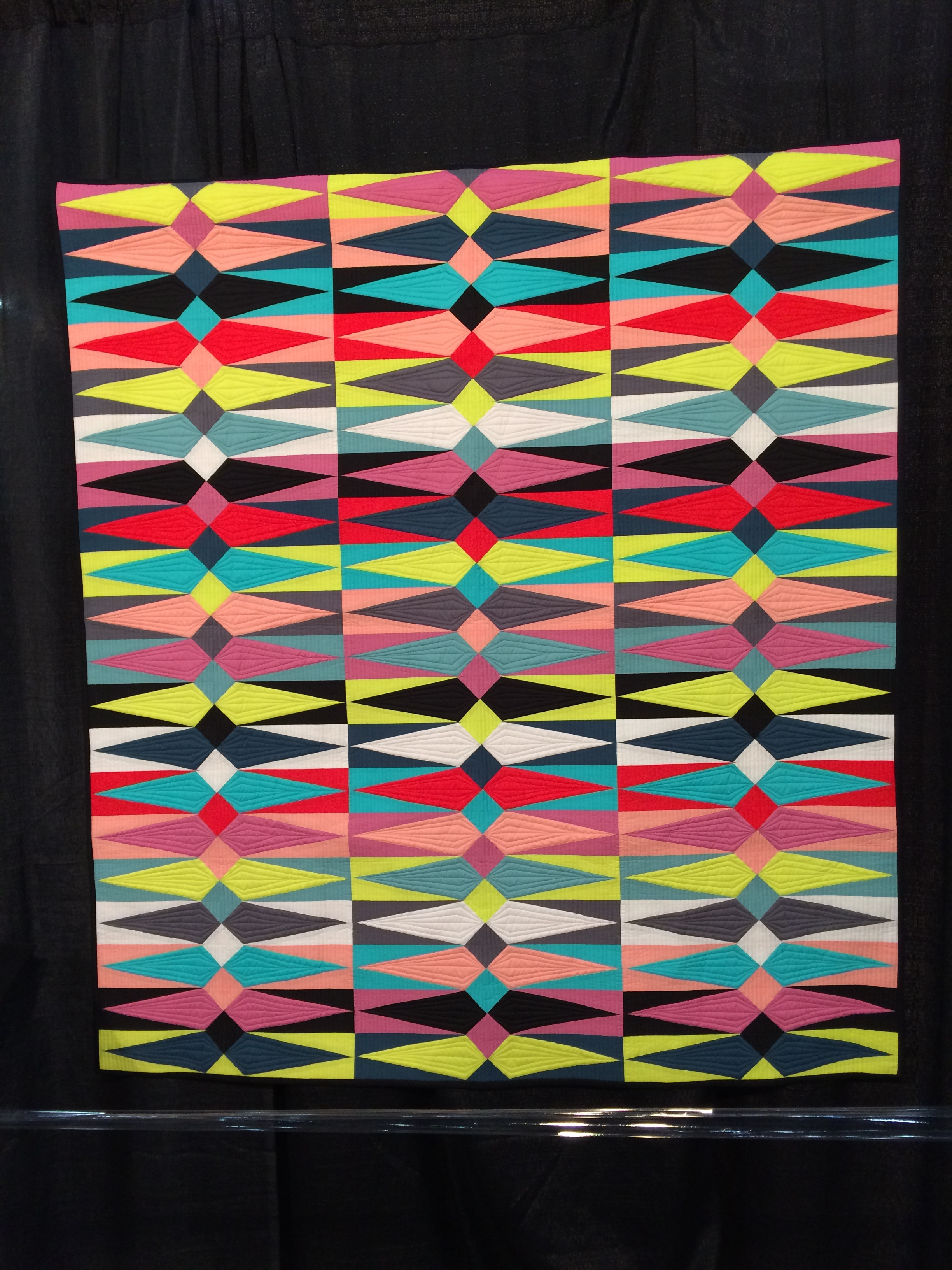 Lawn Diamonds  by Sarah Schraw, quilted by Krishma Patel