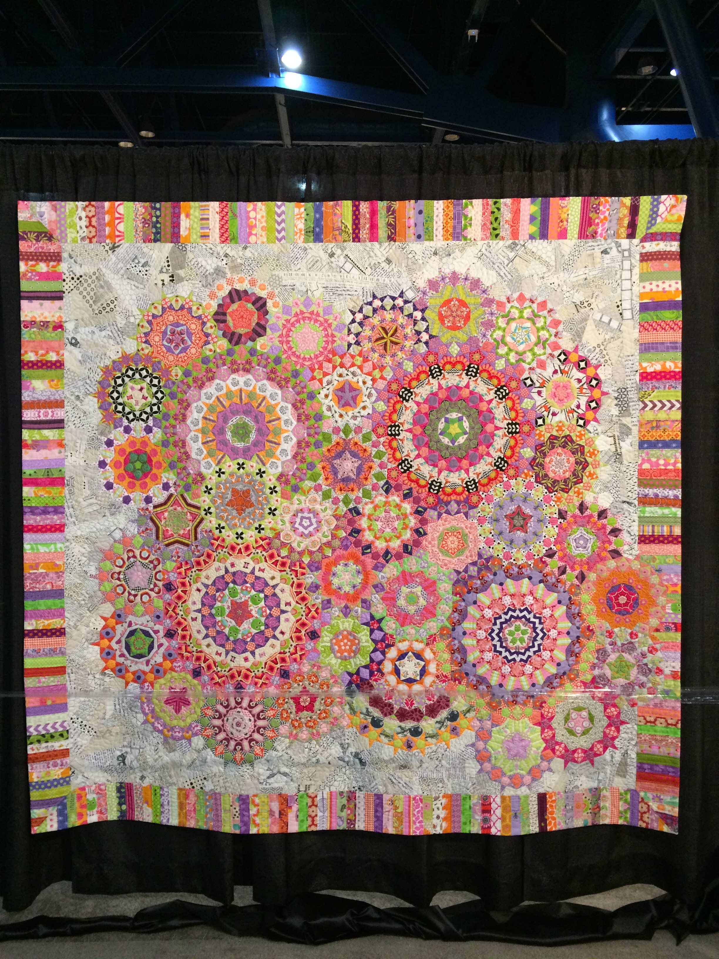 Good Day Mr. Penrose  by Karen Tripp, quilted by Sue Fox
