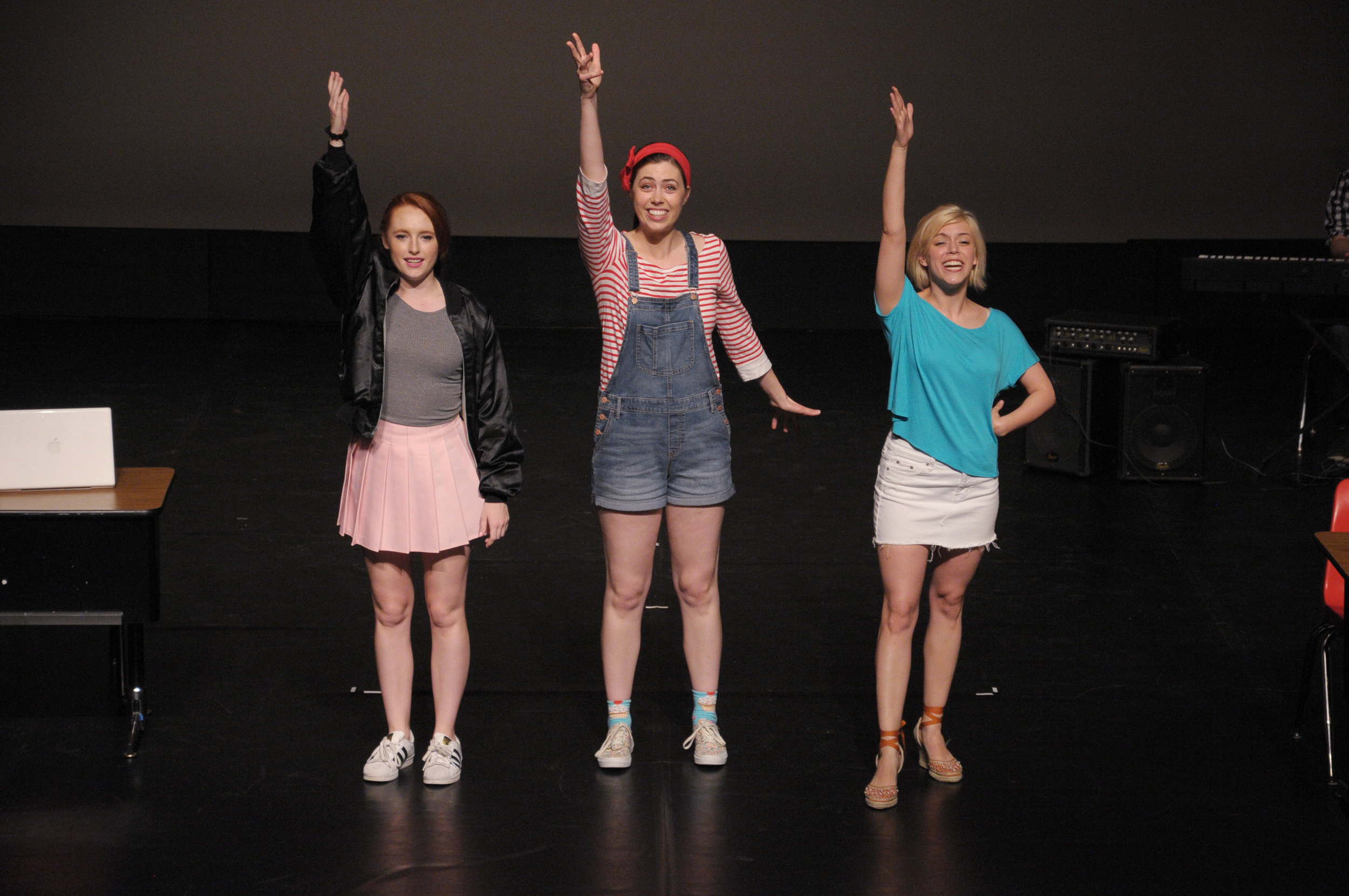 Chelsea Townsend, Tess Higgins, and Brittany Martz in Dark Times at Grimesville High, 2016 Capital Fringe Festival