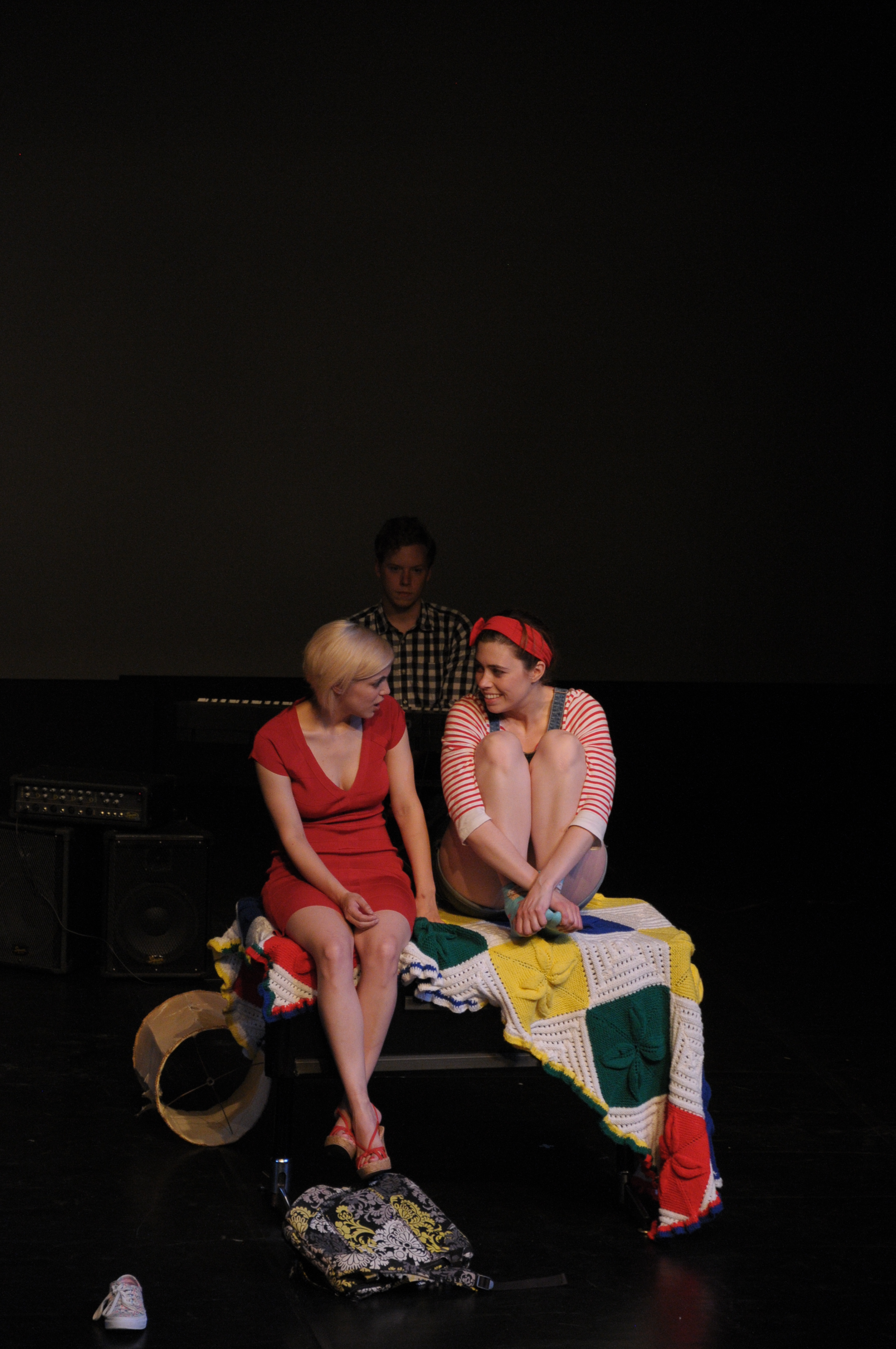 Tess Higgins and Brittany Martz in  Dark Times at Grimesville High, 2016 Capital Fringe Festival