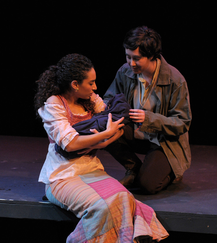 Maggie Marie Rodgers and Halah Zenhom in  Woyzeck at George Mason University
