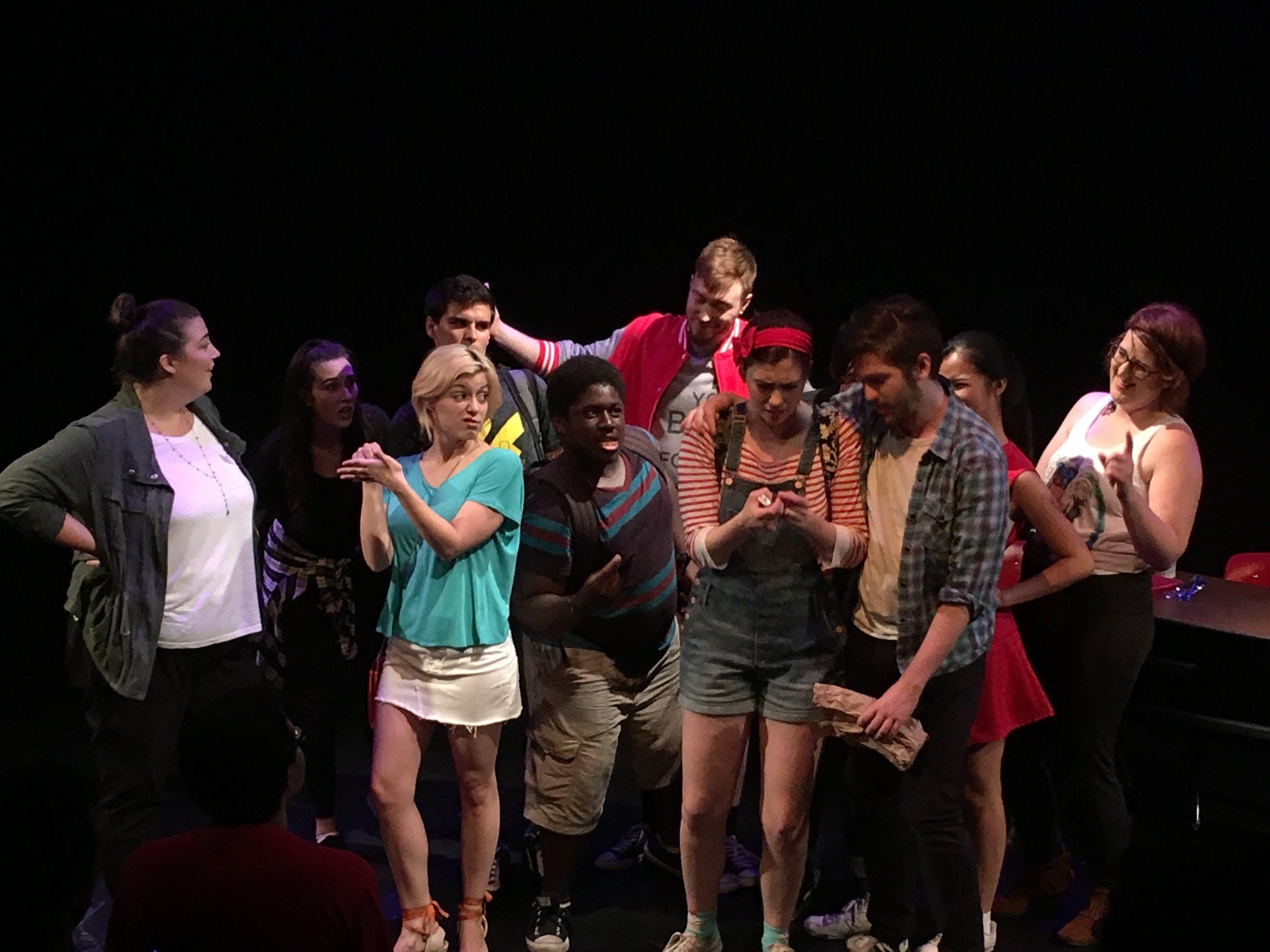 Cast of  Dark Times at Grimesville High , Fringe Extension Week