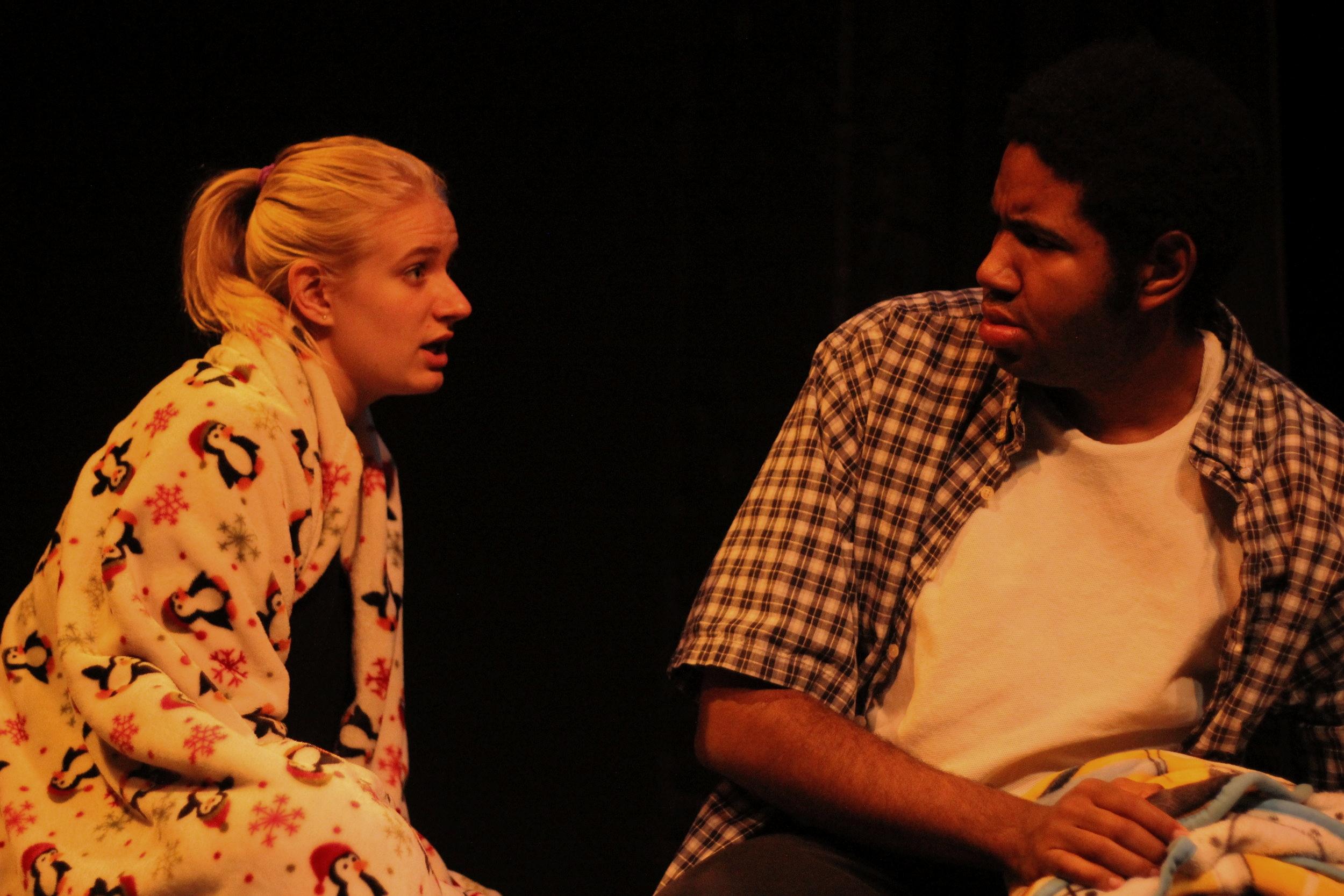 Skye Lindberg as Nicole and Justin Sumblin as Twix