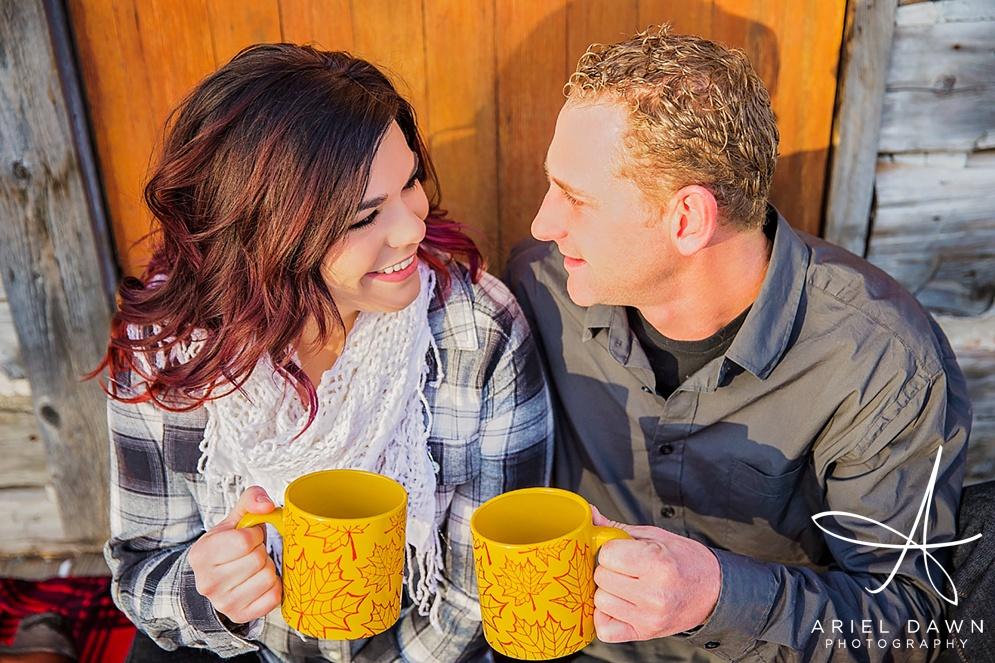 Hot Chocolate Engagement Session Great Falls, Montana