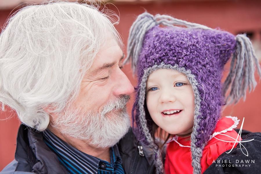 Family Photographer Great Falls, MT Grandpa and Granddaughter