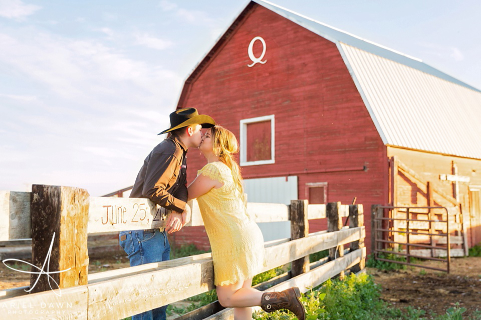 Engagement Session with Farm Great Falls, MT | Ariel Dawn Photography