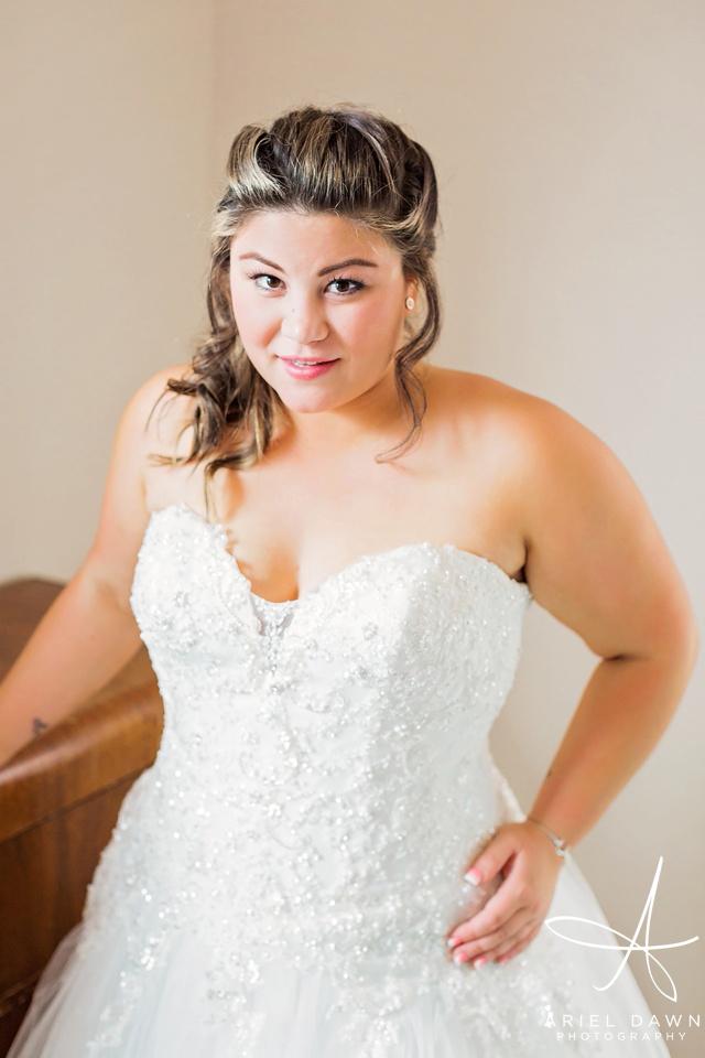Bride in Wedding Dress | Great Falls, Montana | Ariel Dawn Photography | www.arieldawnphotography.com