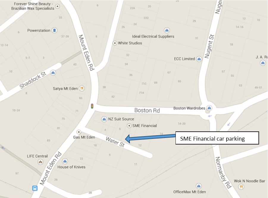 SME has carparking located at 8 Water Street which can be accessed via Mount Eden Road