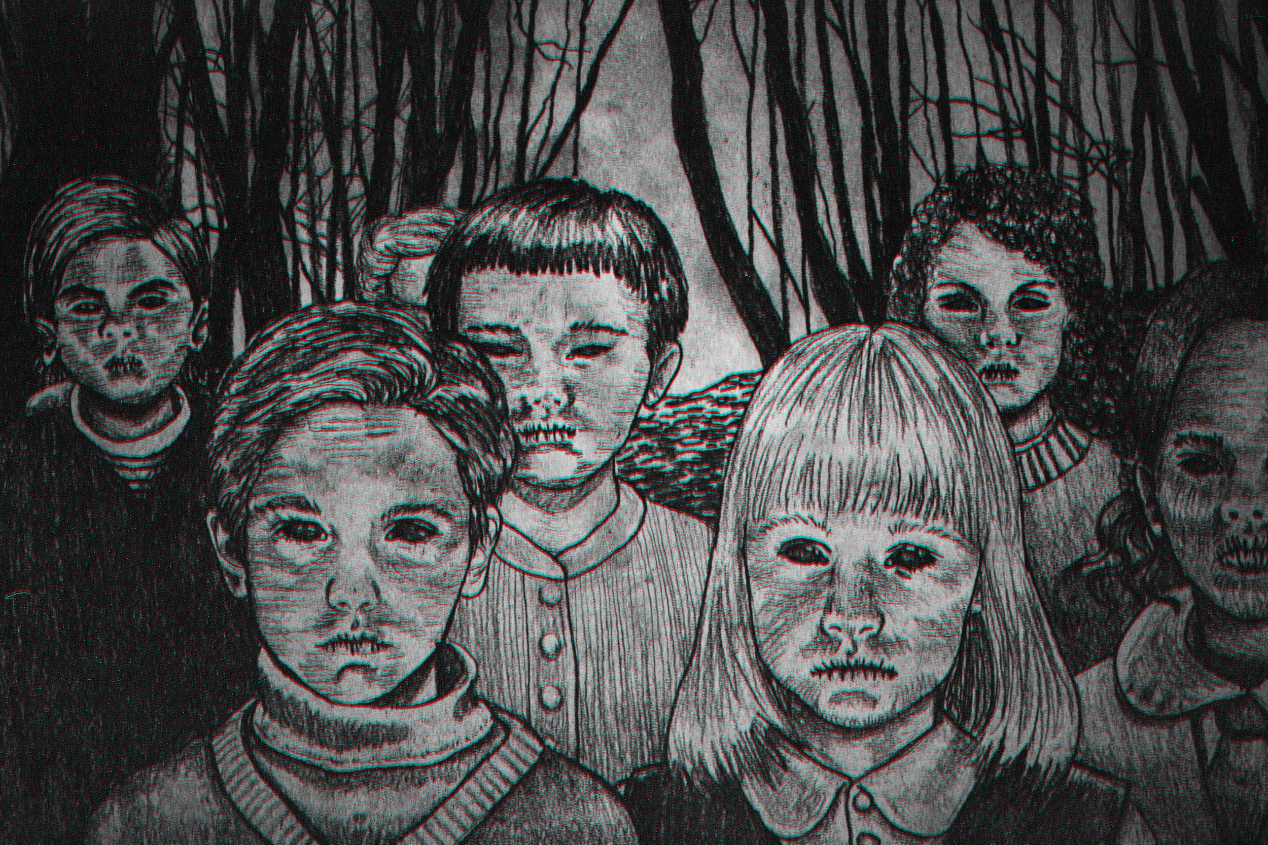 Illustration done for Thought Catalog. Read more about the  Black-Eyed Children .
