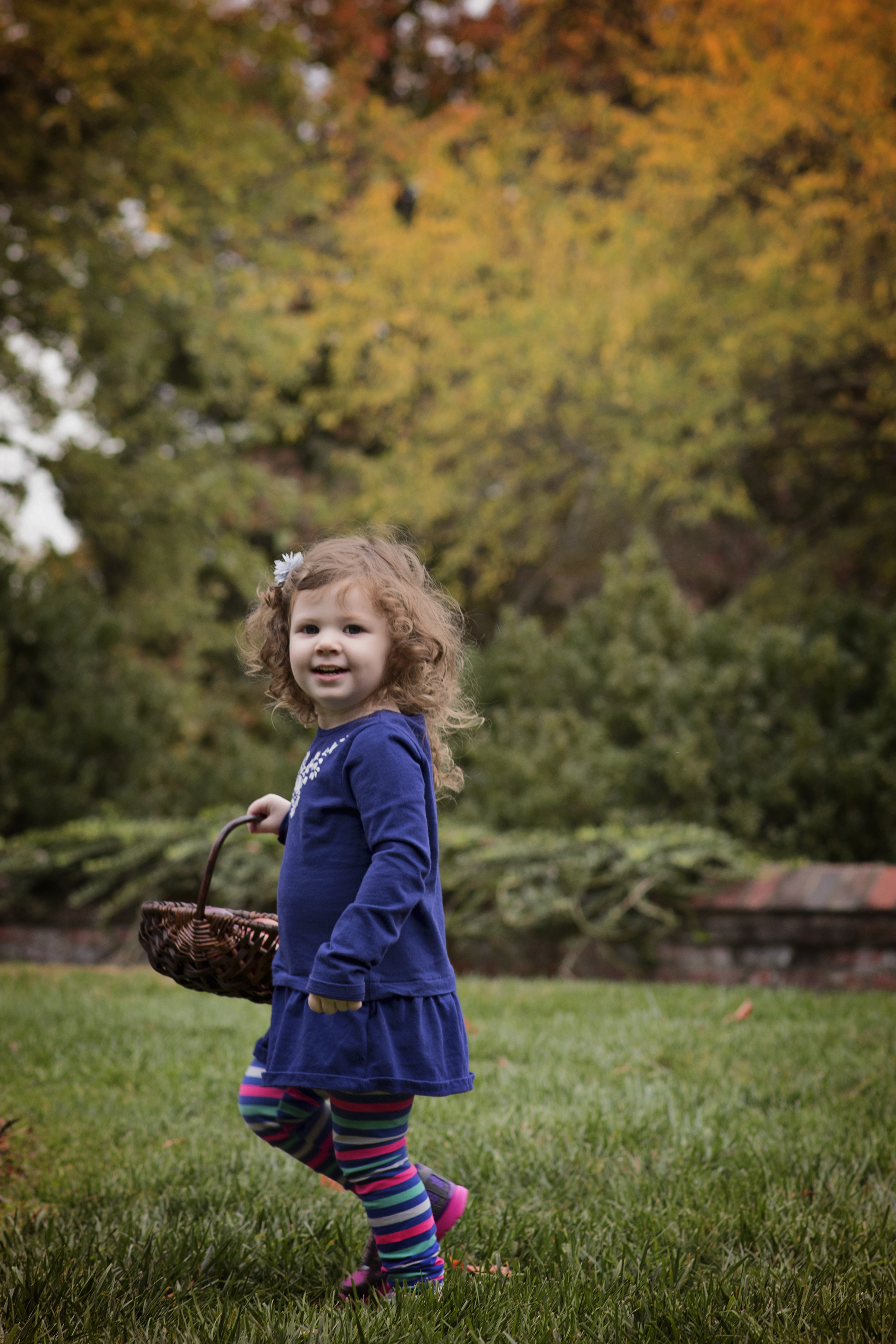 Little Girl with apples in a basket Childrens Photographer Kate Montaner