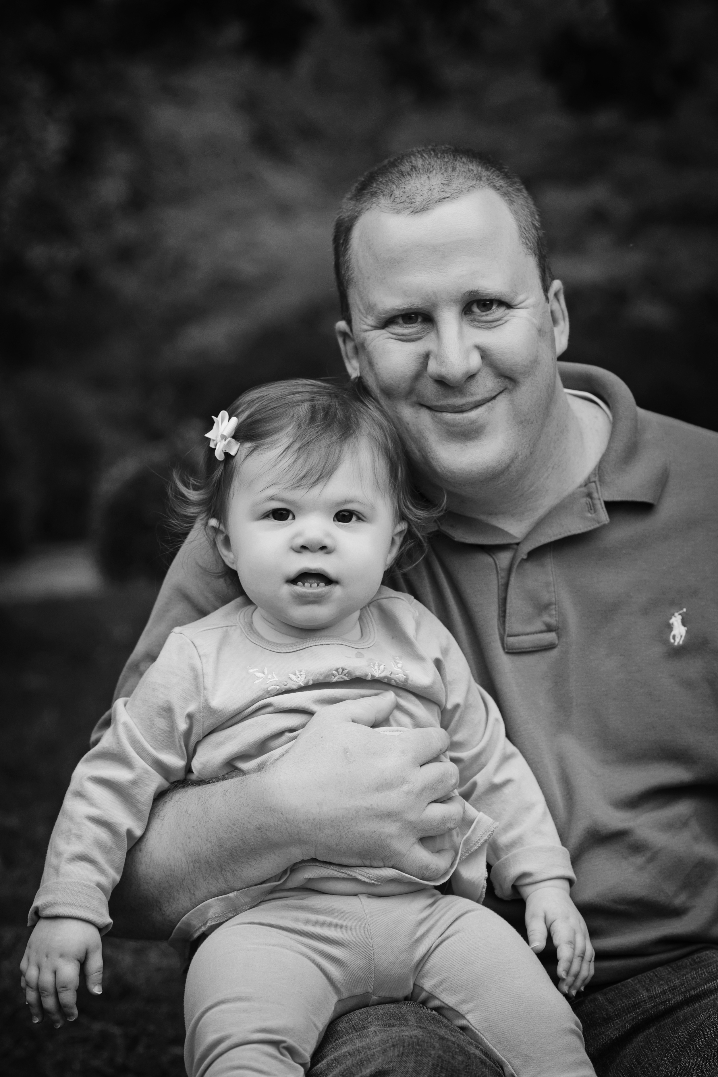 Daddy and Daughter black and White Portrait Photography Kate Montaner