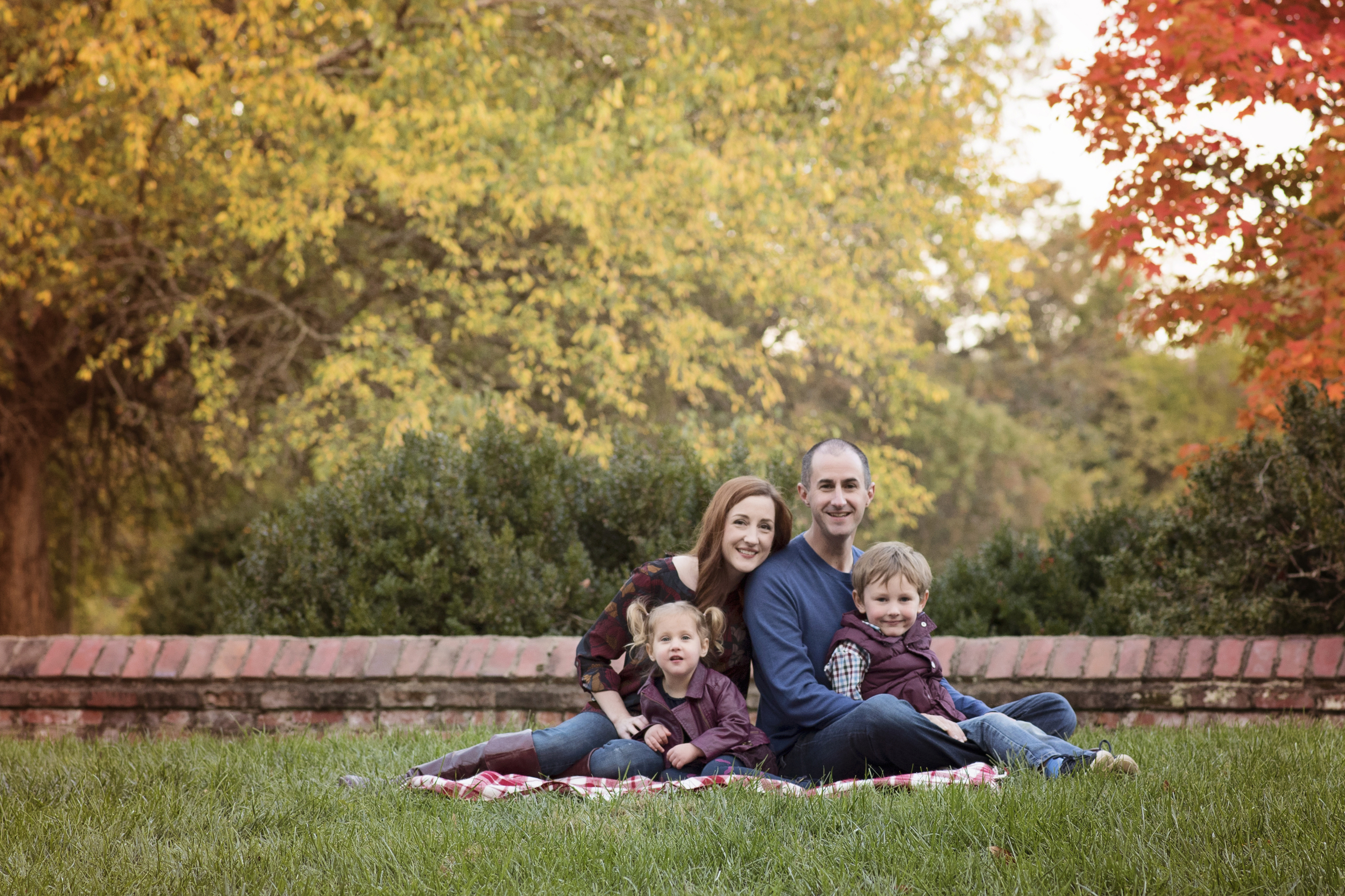 Picture Perfect Family with Fall Trees Leesburg Virginia Kate Montaner Photography