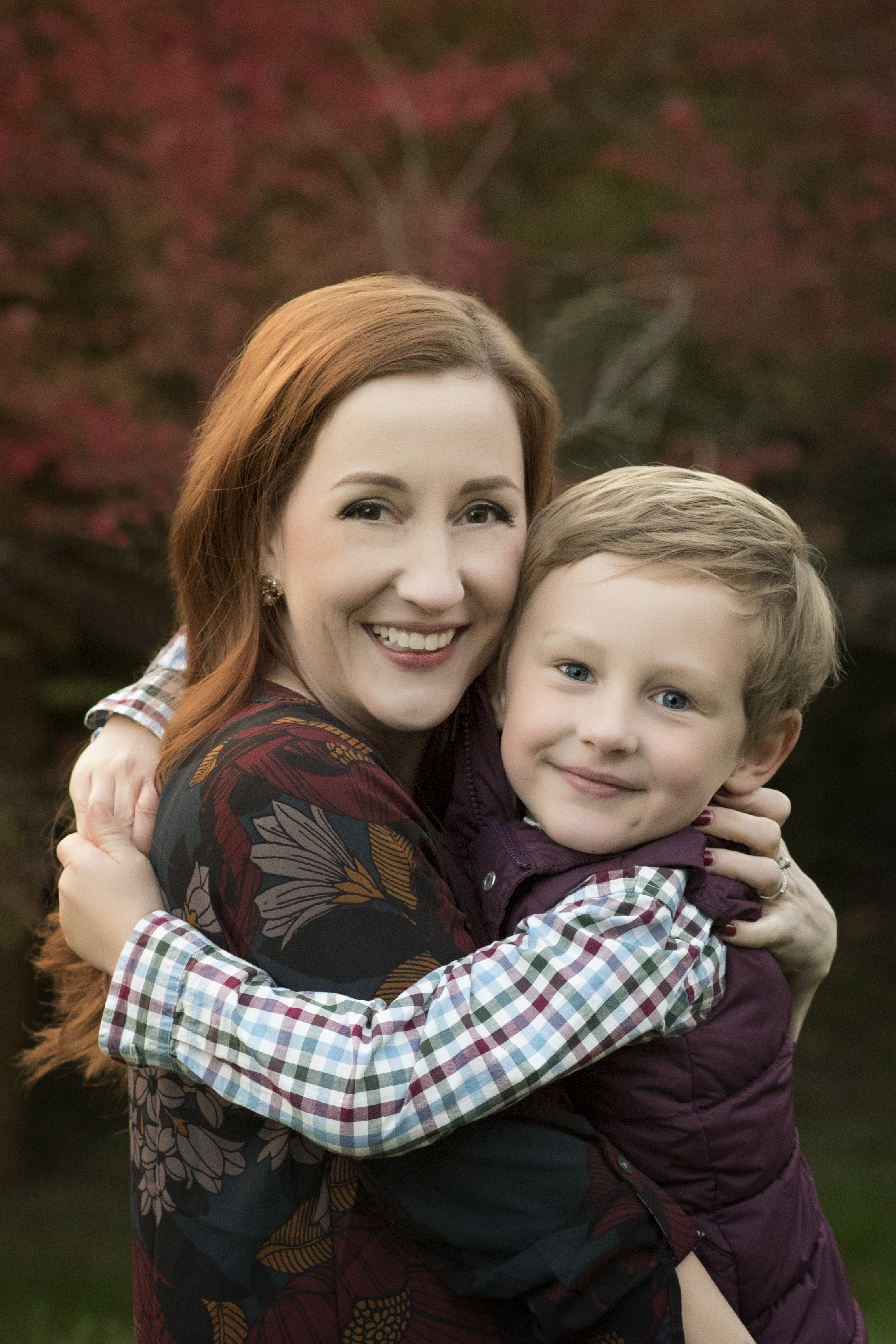 Mother Son Embrace Northern Virginia Family photographer Kate Montaner