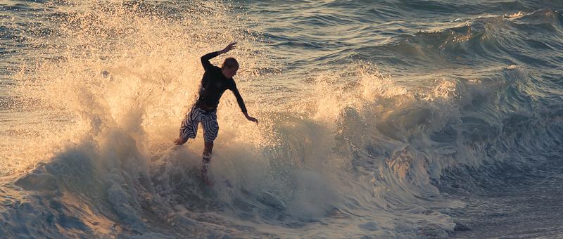 skim boarding at Laguna beach.