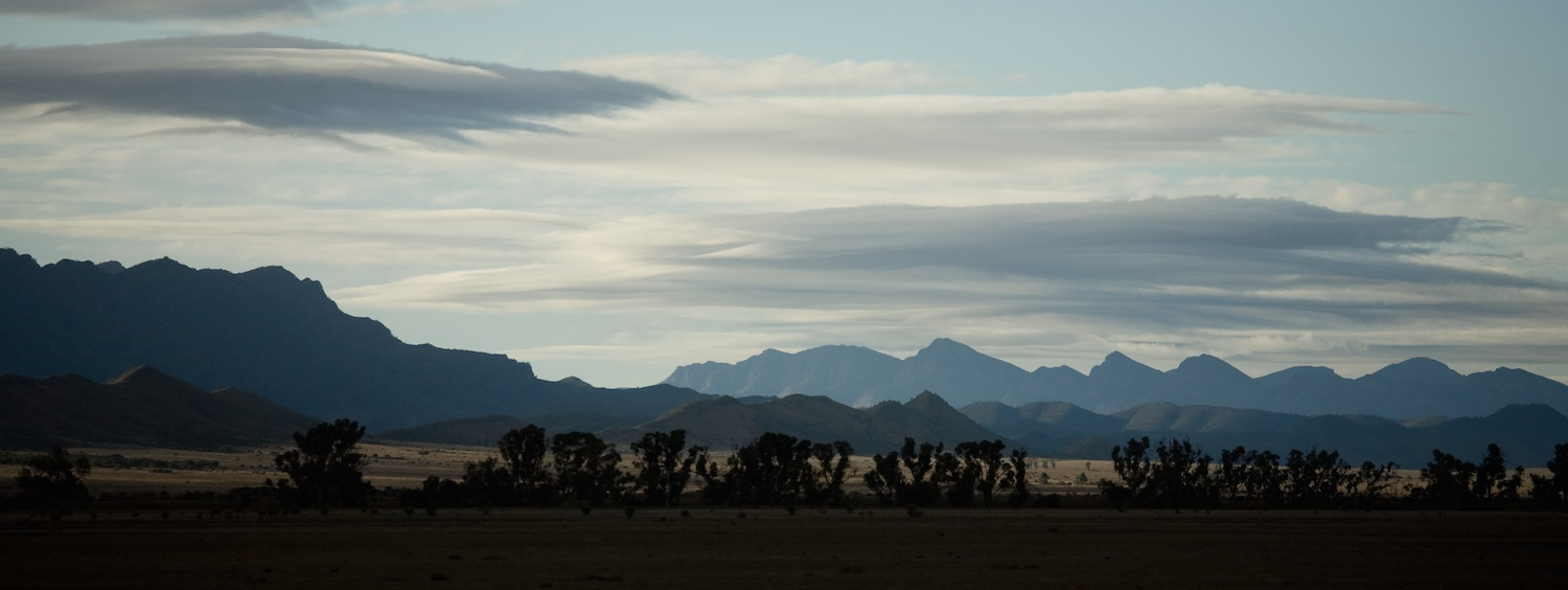Into the Southern Flinders Ranges.