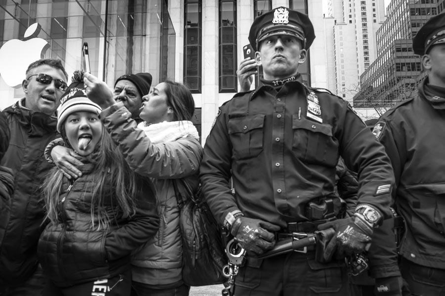 An Officer and a Little Girl.