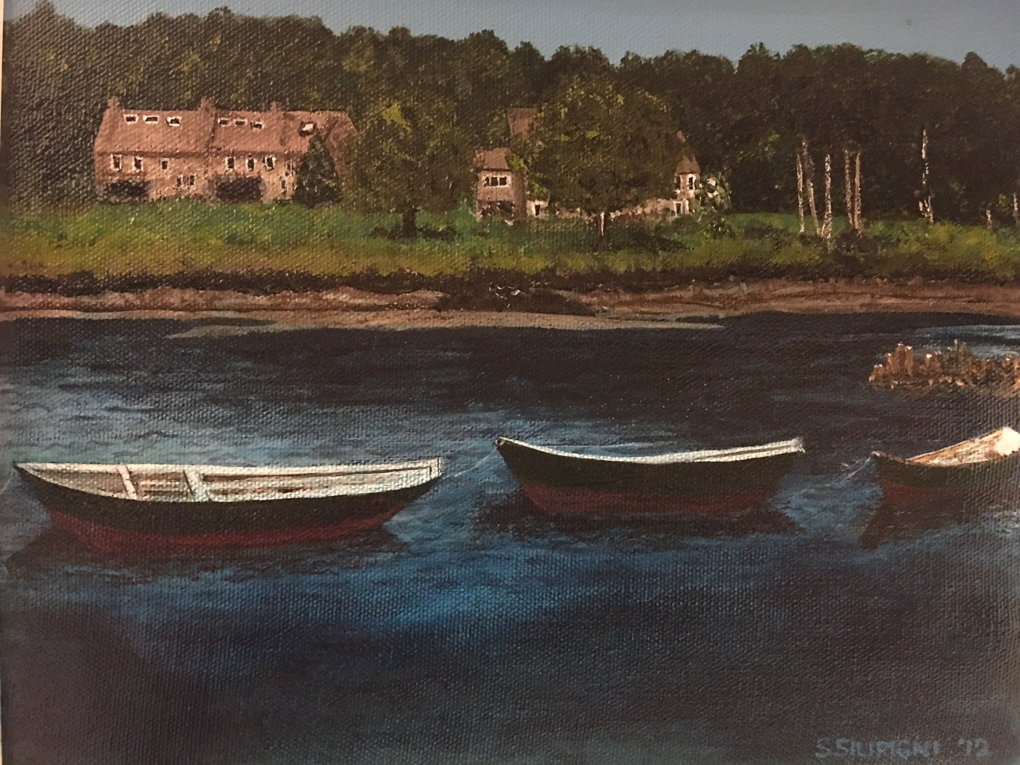 Three Dories-Kennebunkport Maine, 8 x 10 acrylic.jpg