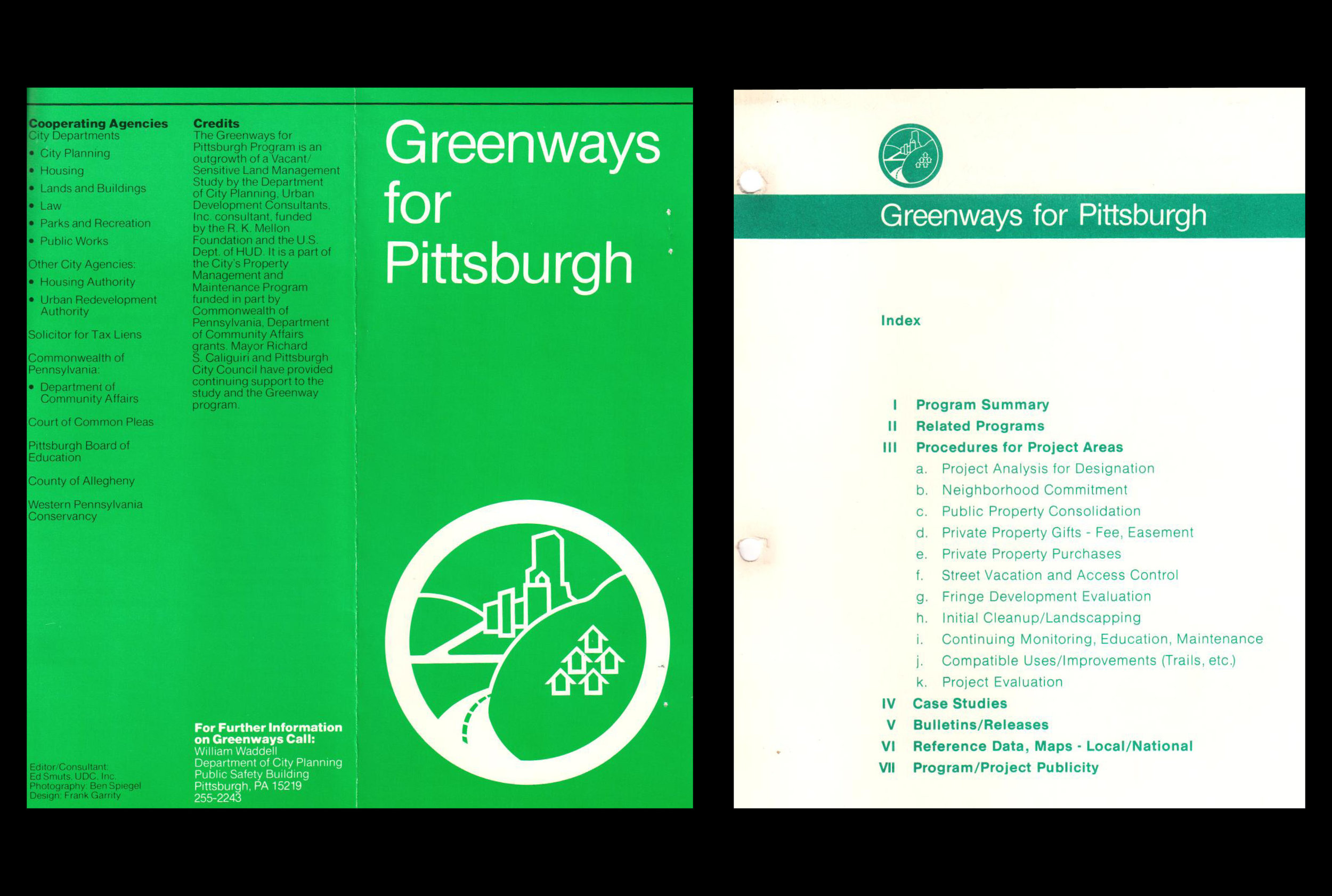 FIRST GREENWAYS FOR PITTSBURGH GUIDE, 1980