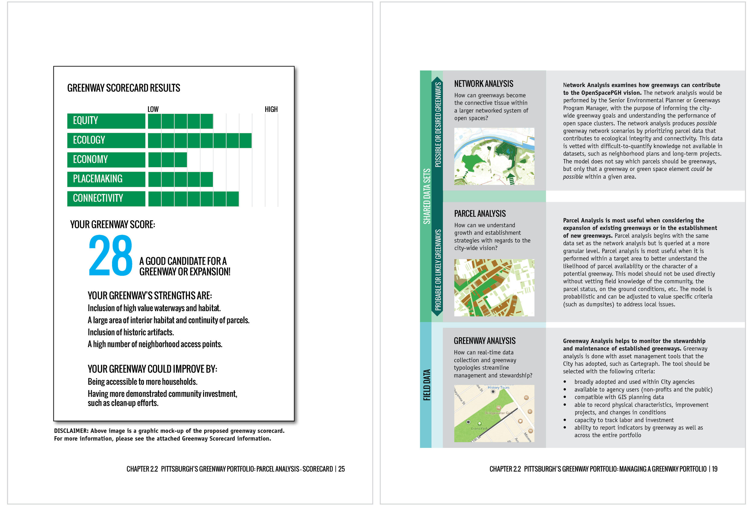 GREENWAYS ANALYSIS & SCORECARD IN POLICY GUIDE