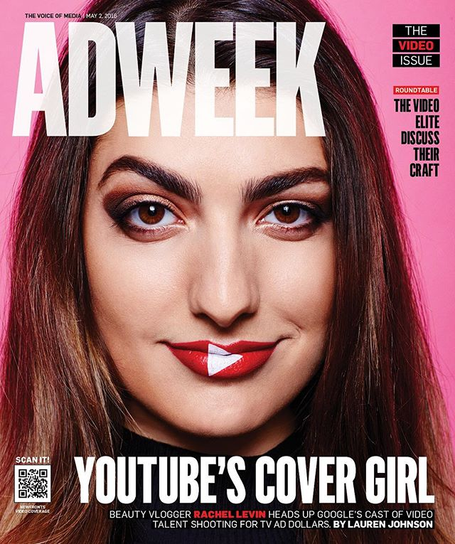 Proud to announce @rclbeauty101 is on the cover of @adweek this month as Youtube's Cover Girl! Proud of you Rachel! Be sure to read the full article on @adweek. #rachellevin #rclbeauty101 #lennonmgmt
