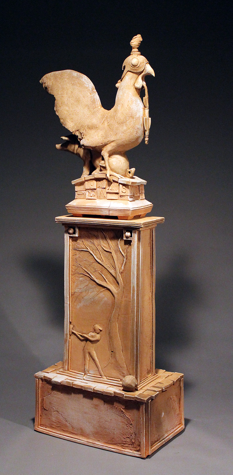 Rooster Stele by Chuck Johnson
