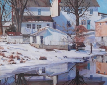 """Amish Court Yard"" by Janet Wilson"
