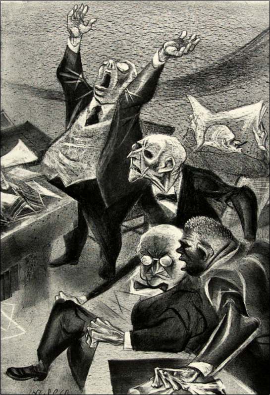Politicos , lithograph by William Gropper