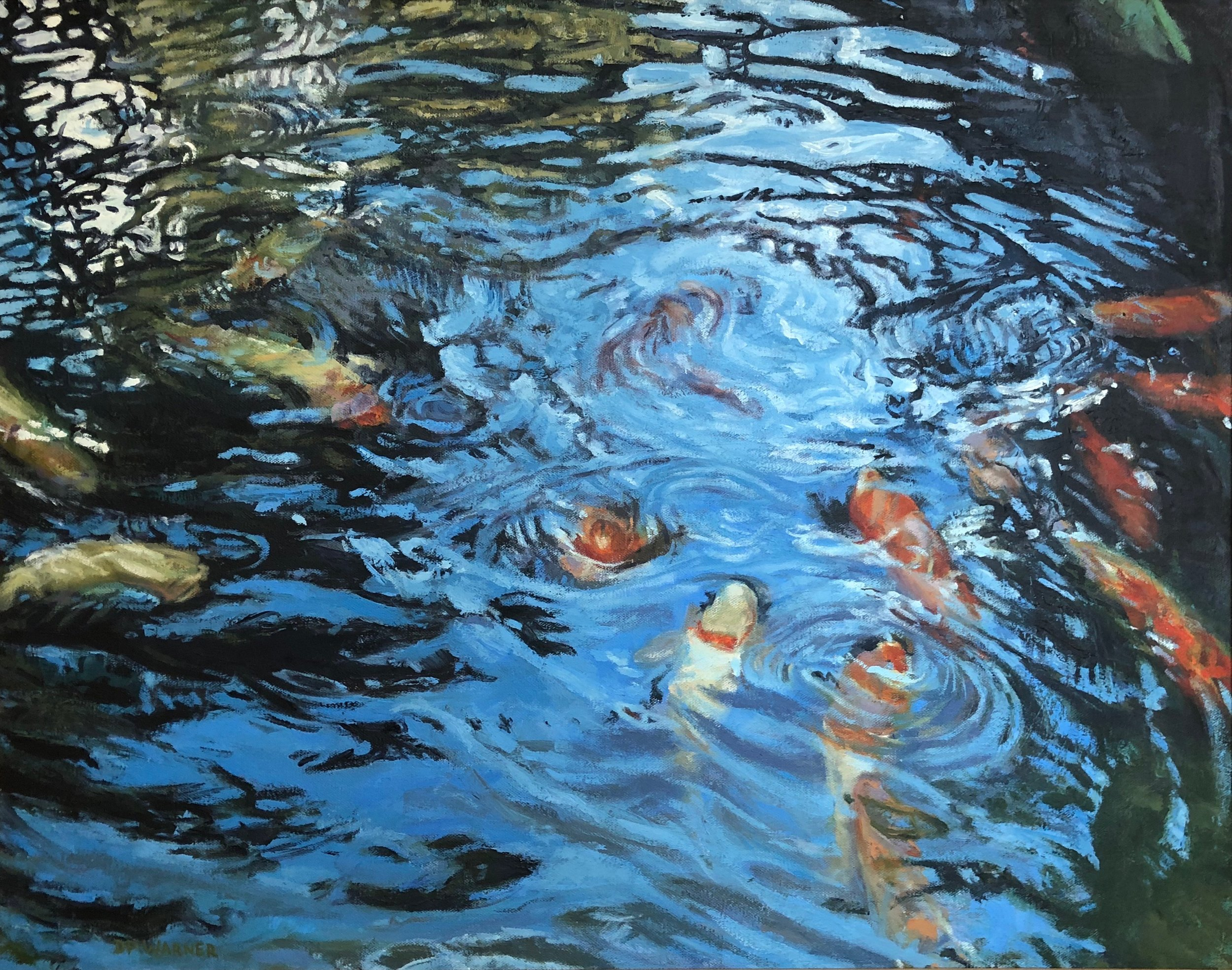 1. Koi, oil, 22x28, David Warner.jpg