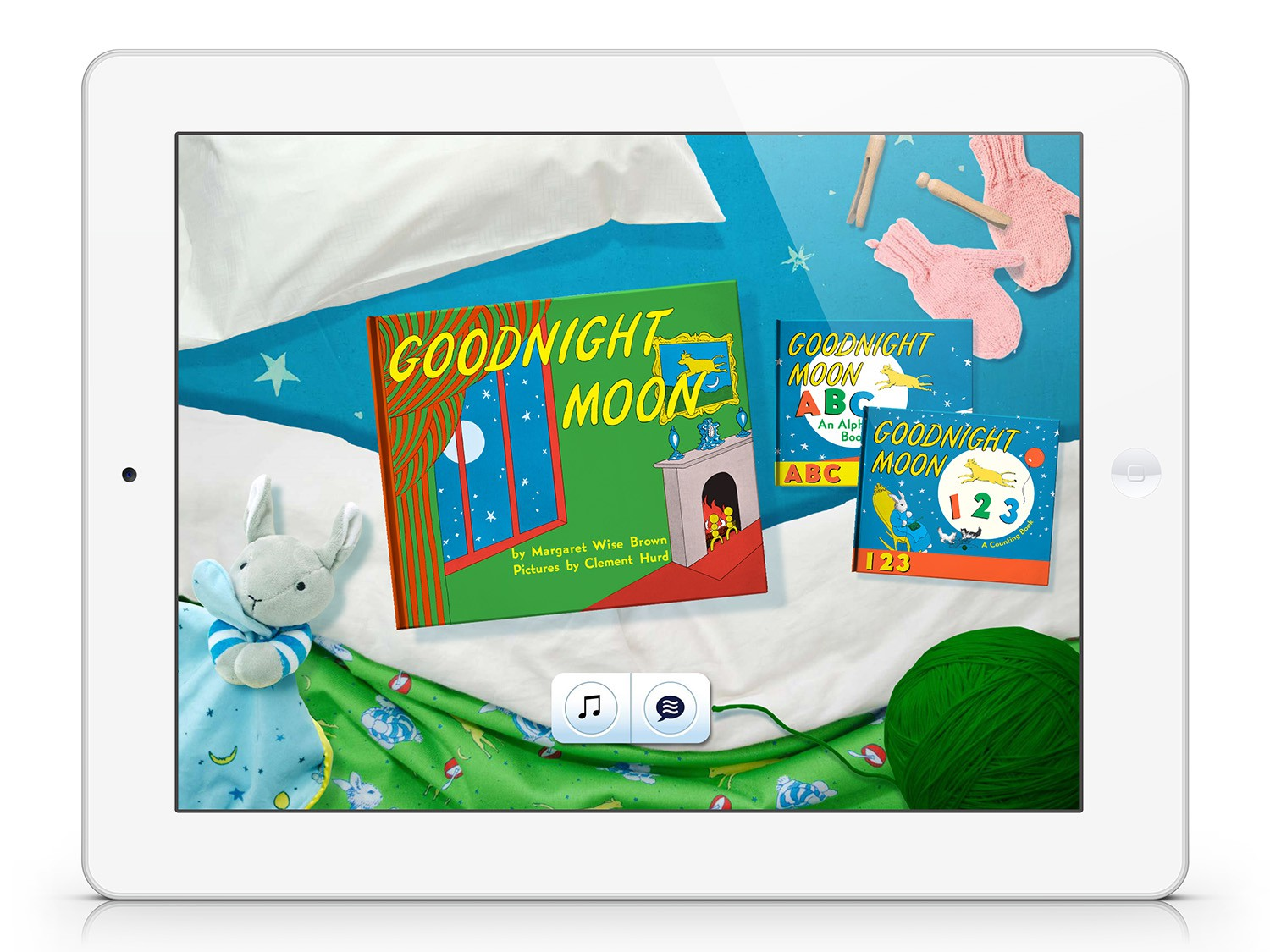 Title Screen for  Goodnight Moon.