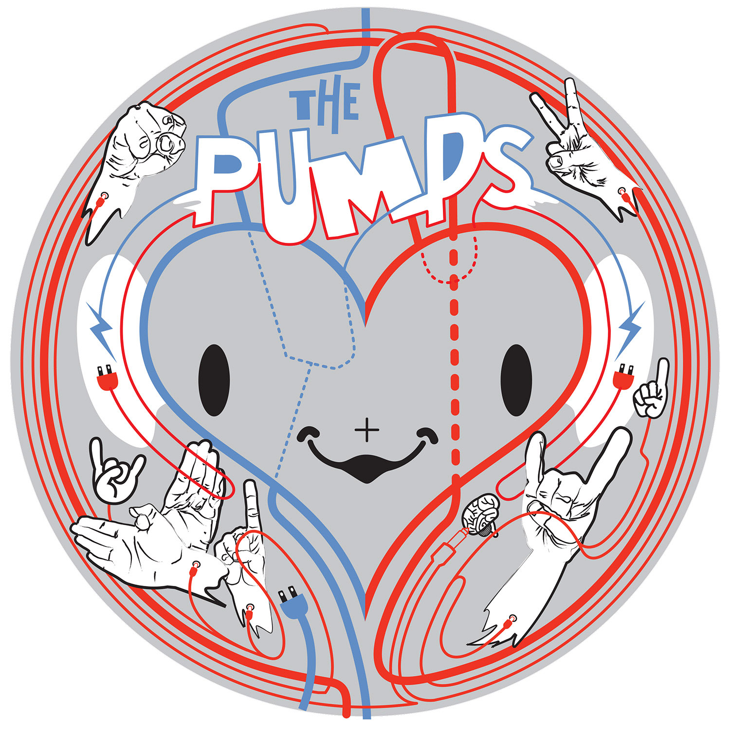 Illustration for interactive heart drum.