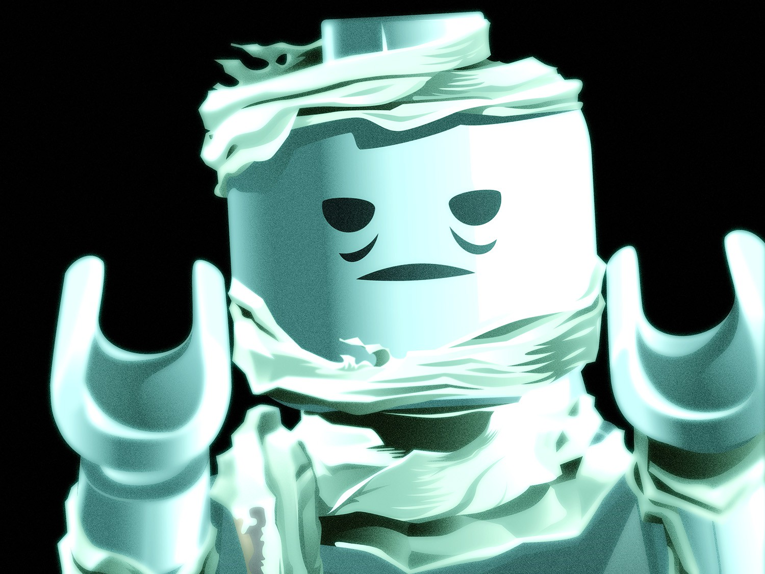 Illustration of LEGO mummy.