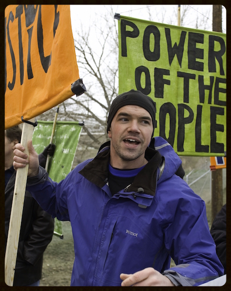 Tim DeChristopher, climate activist and founder of Peaceful Uprising.