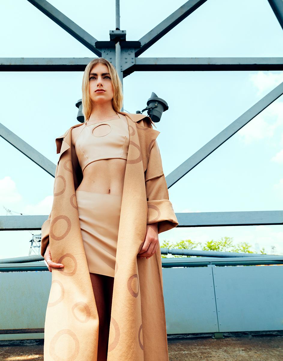 top   Juliana Horner   skirt   Juliana Horner   coat   Sophie Andes   shoes   Juliana Horner