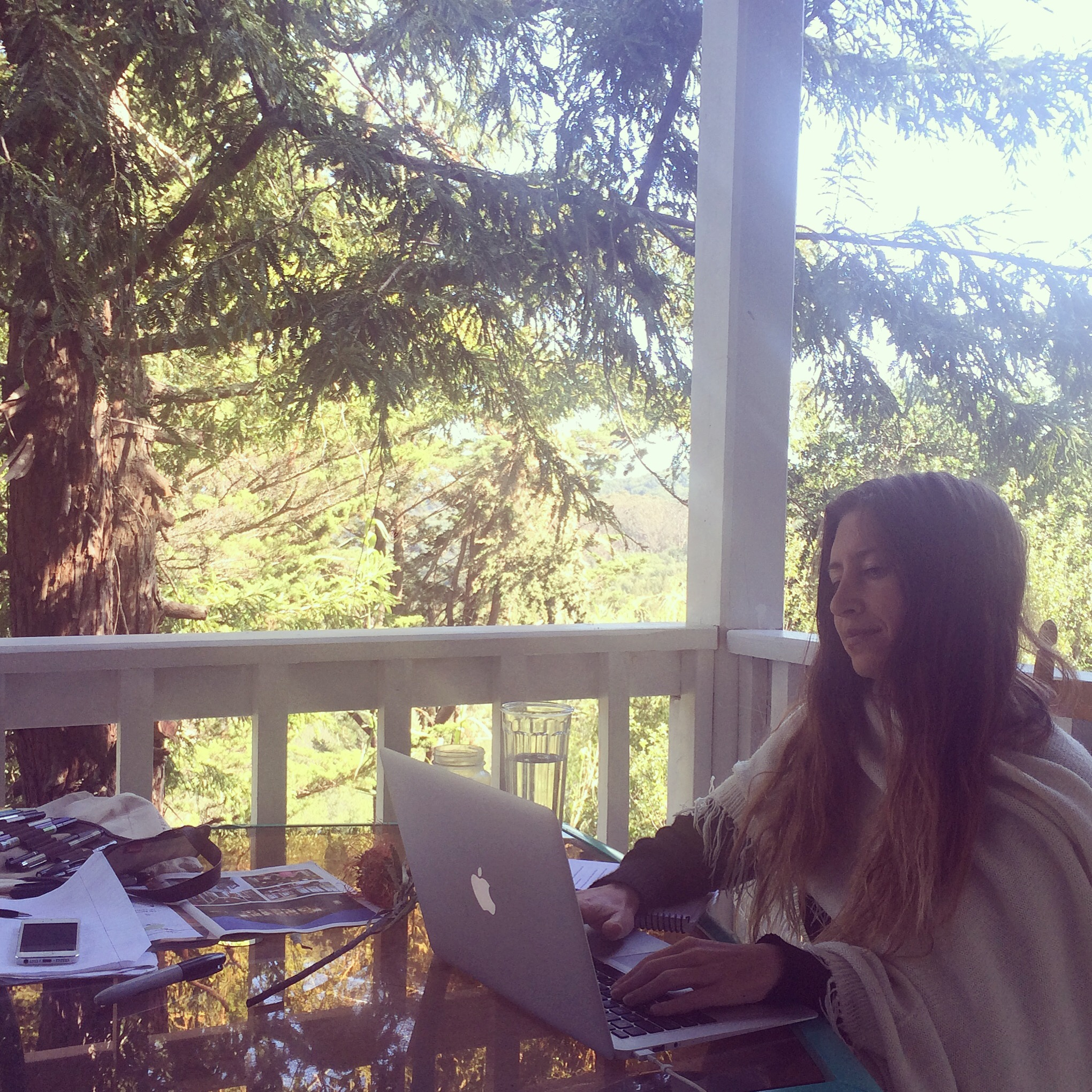 editing away at home with the Redwoods