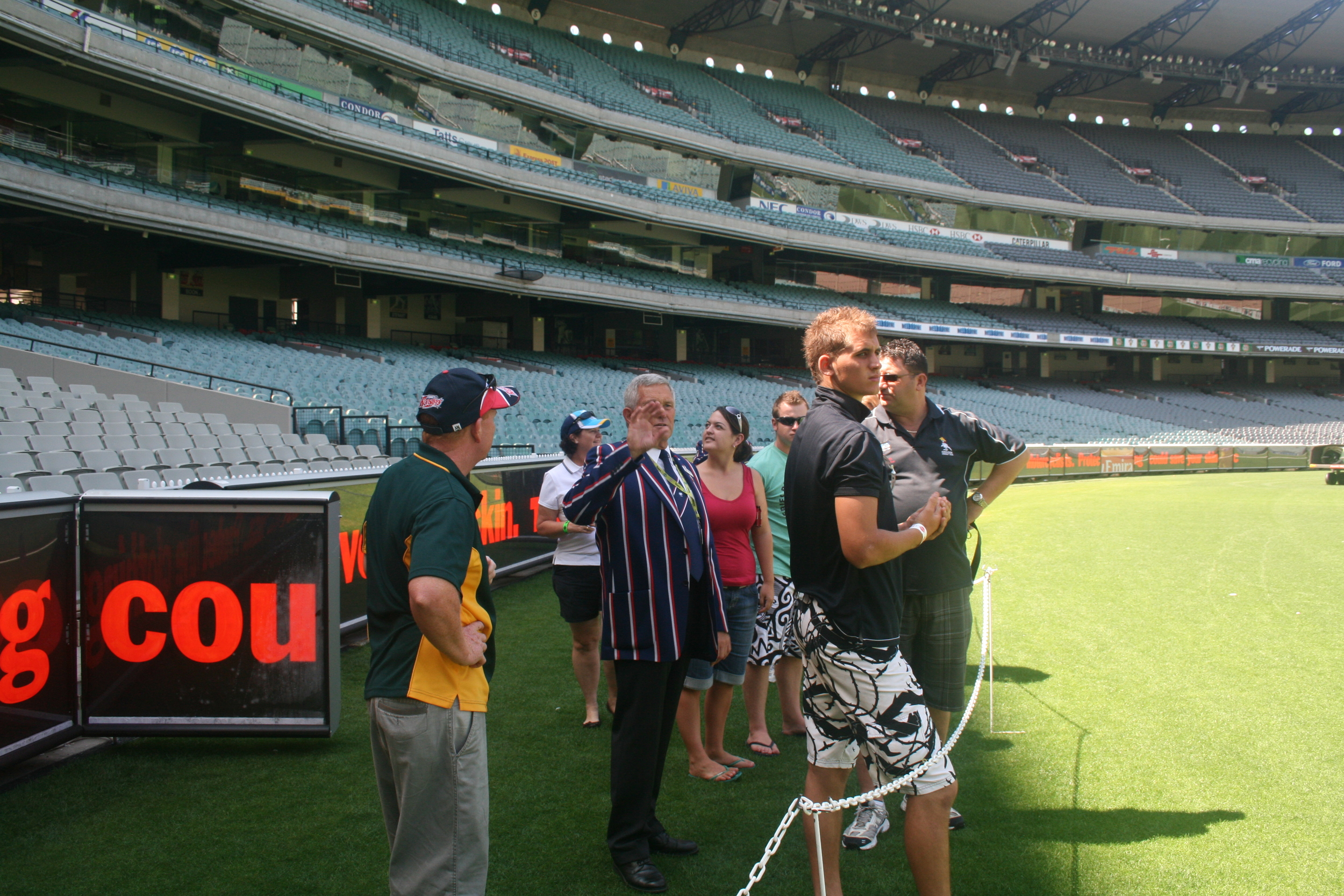 MCG tour on hallowed turf 2009.jpg