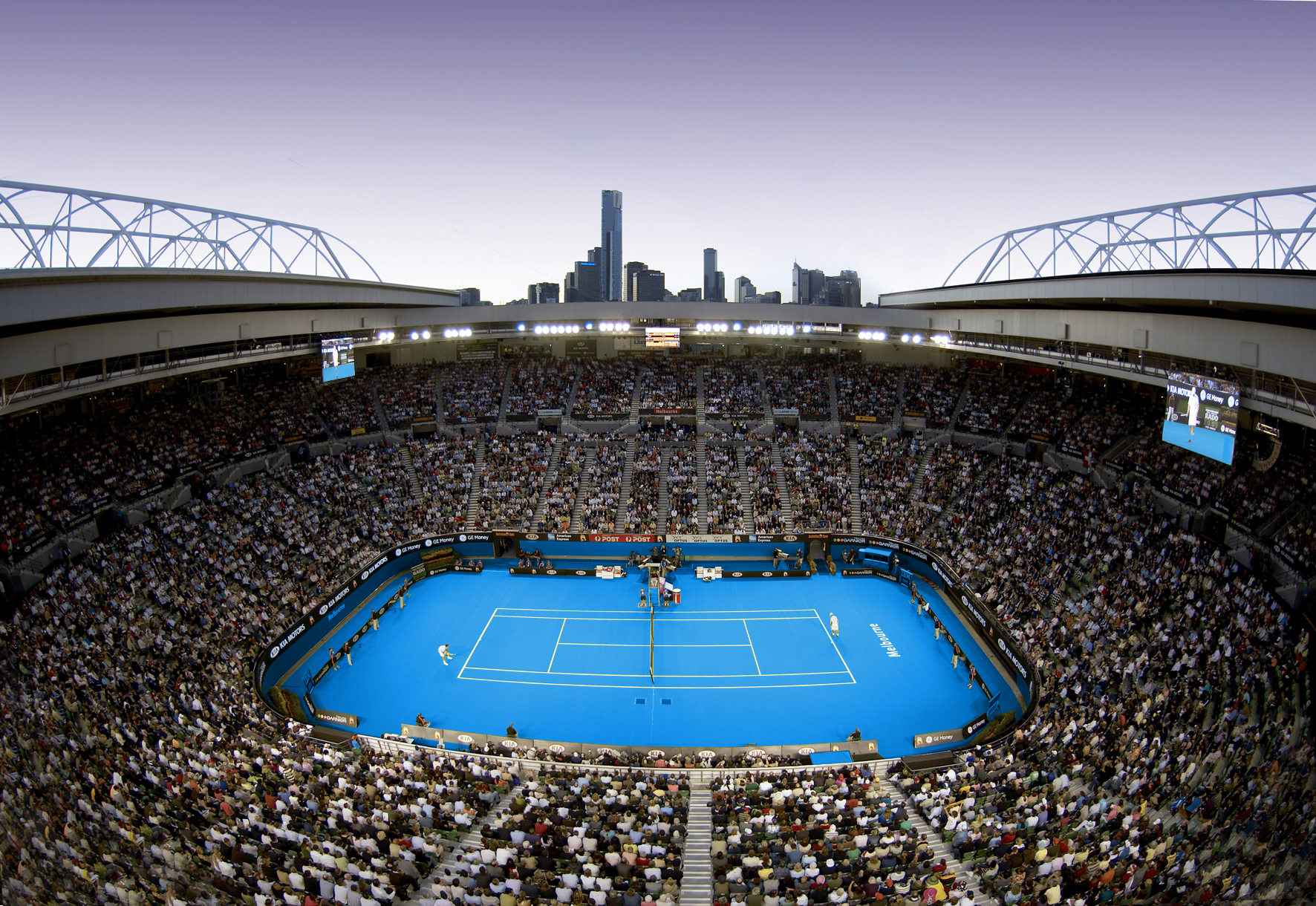 Rod Laver Arena, Roof view.jpg