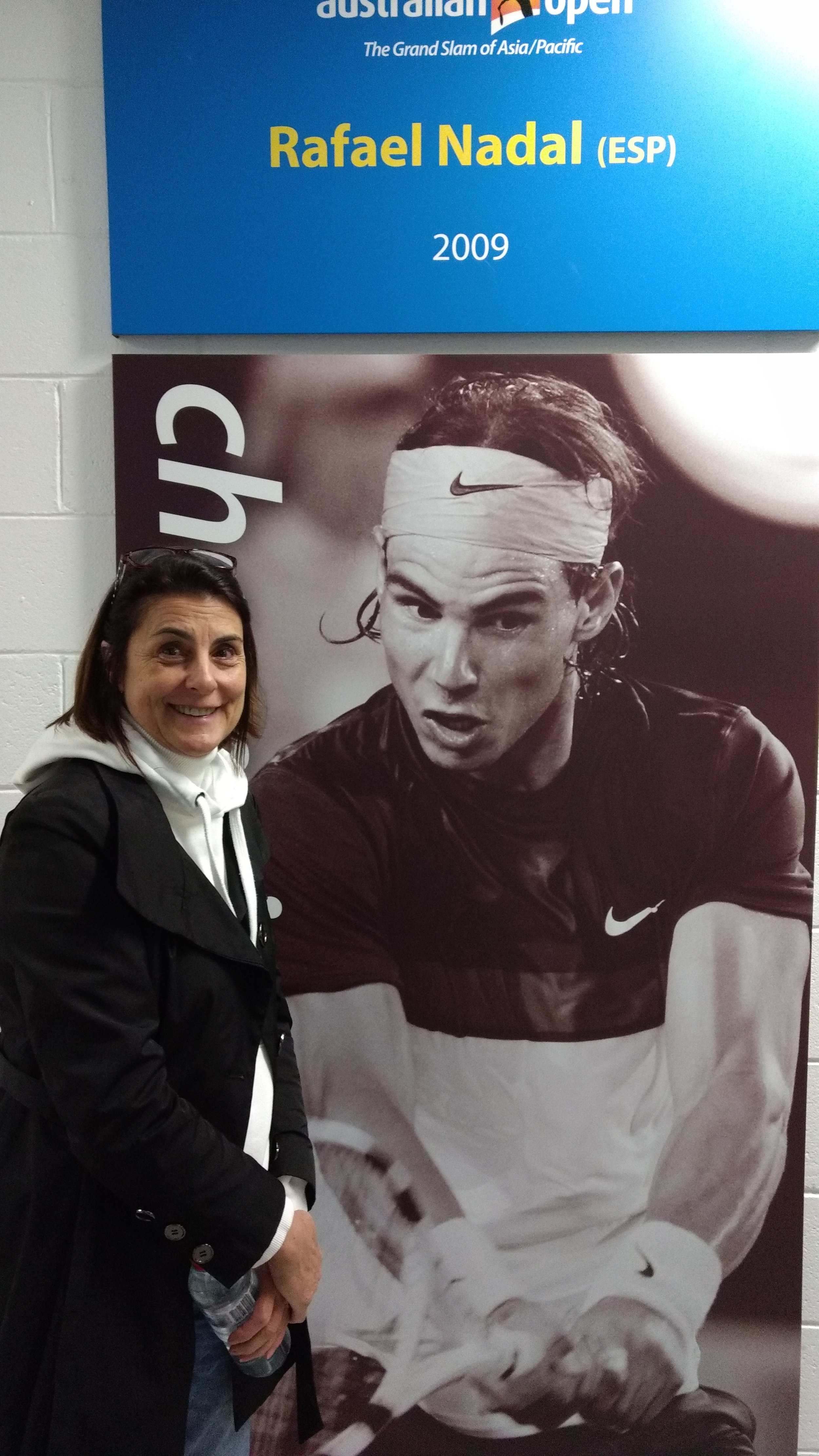 Melbourne Sports Tours guest with Rafa