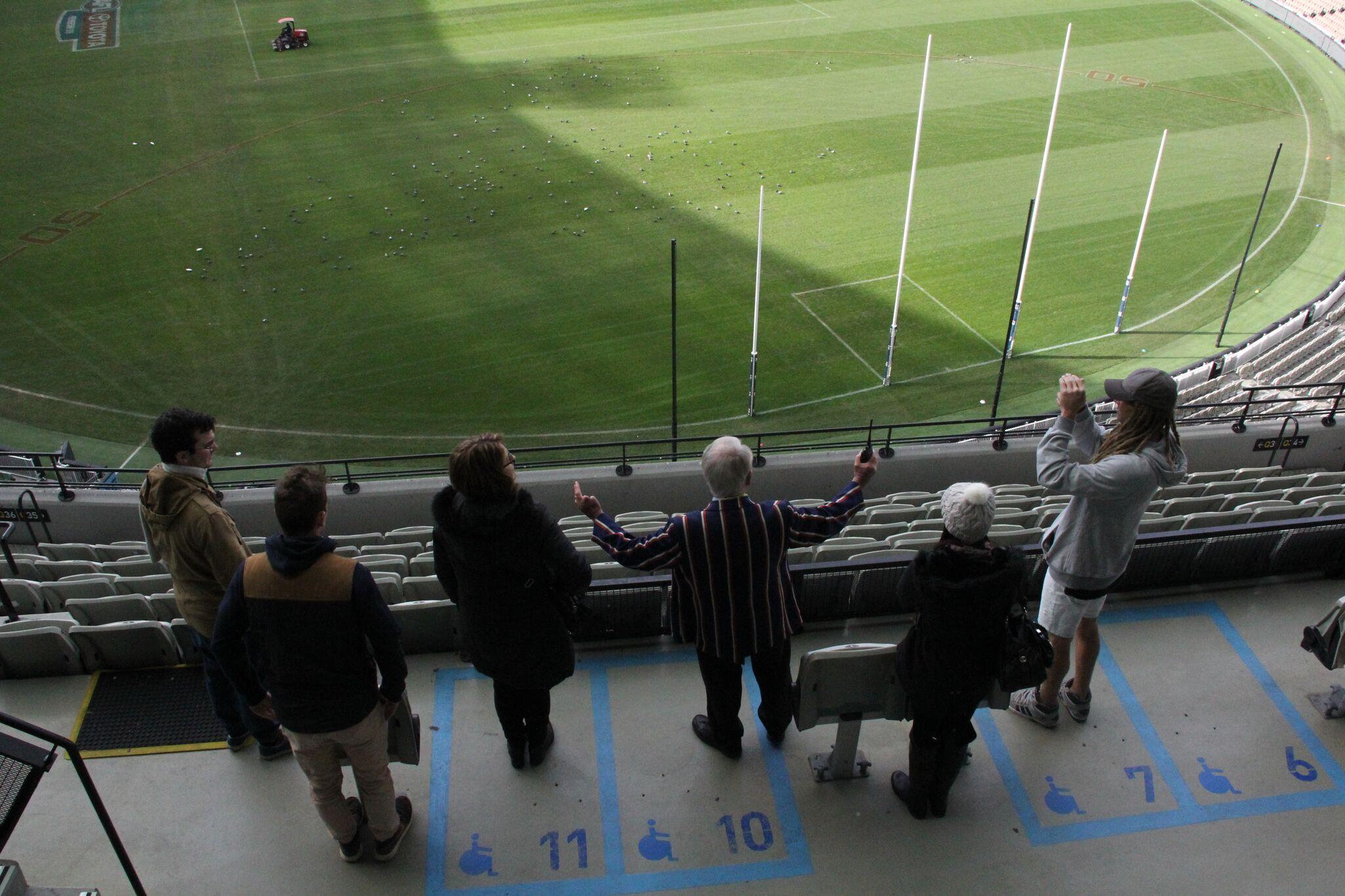 MCG stadium view on tour