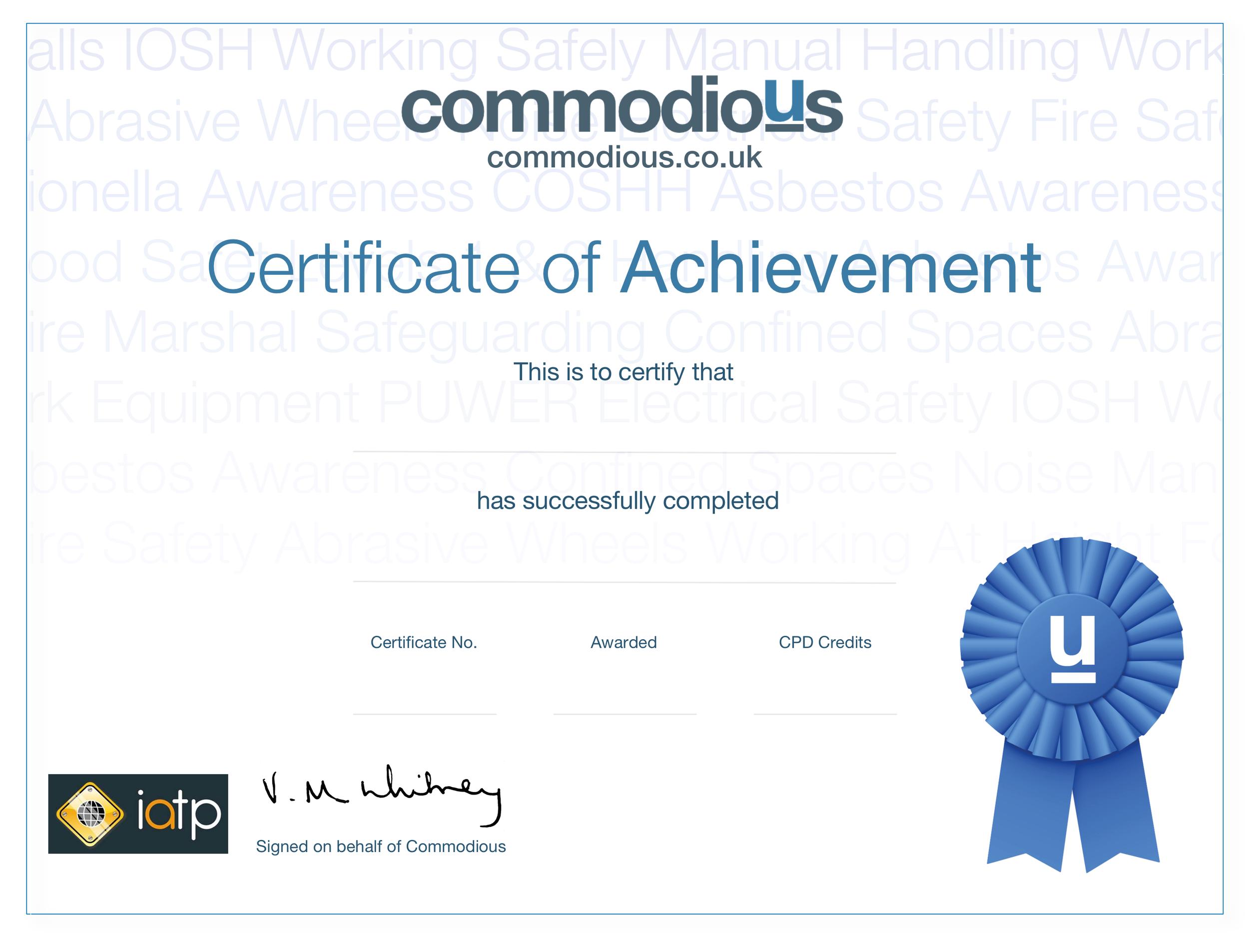 IATP Certificate