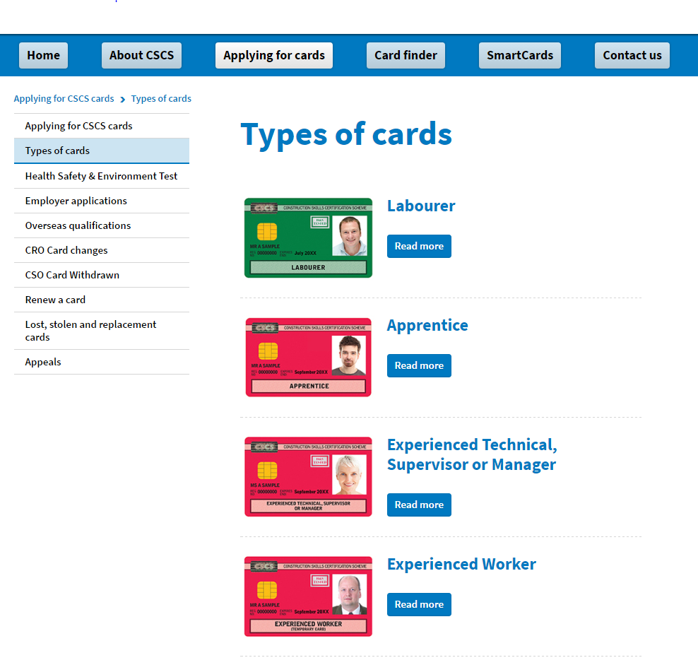 More information about  CSCS cards is available on CSCS web site